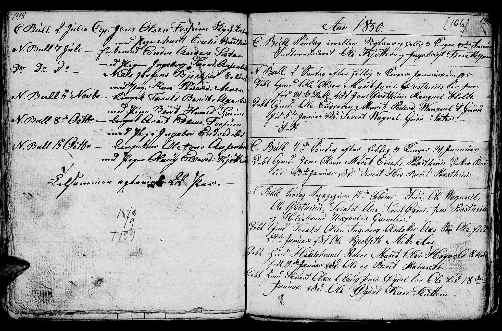 SAT, Ministerialprotokoller, klokkerbøker og fødselsregistre - Sør-Trøndelag, 689/L1042: Klokkerbok nr. 689C01, 1812-1841, s. 165-166