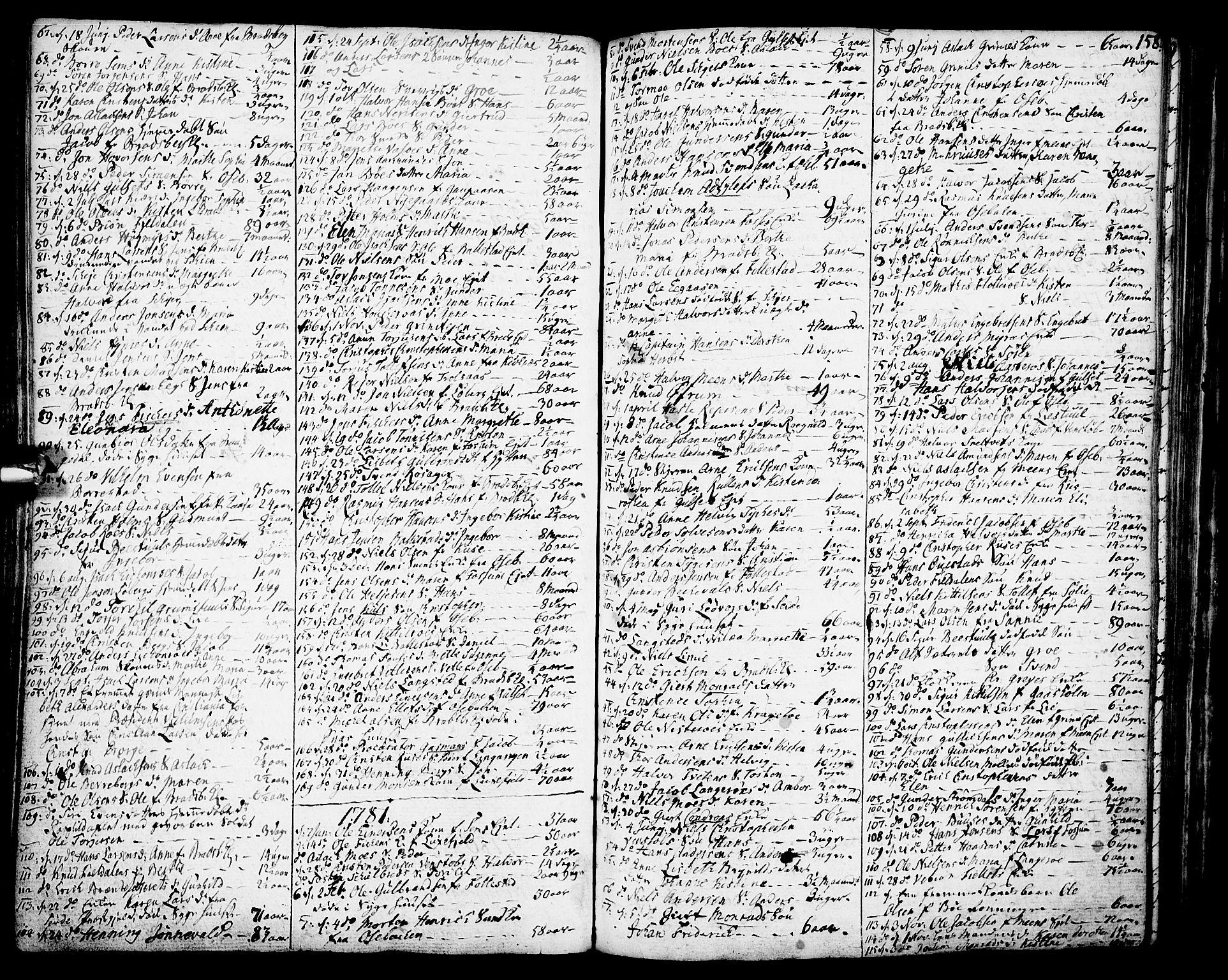 SAKO, Gjerpen kirkebøker, F/Fa/L0002: Ministerialbok nr. 2, 1747-1795, s. 158