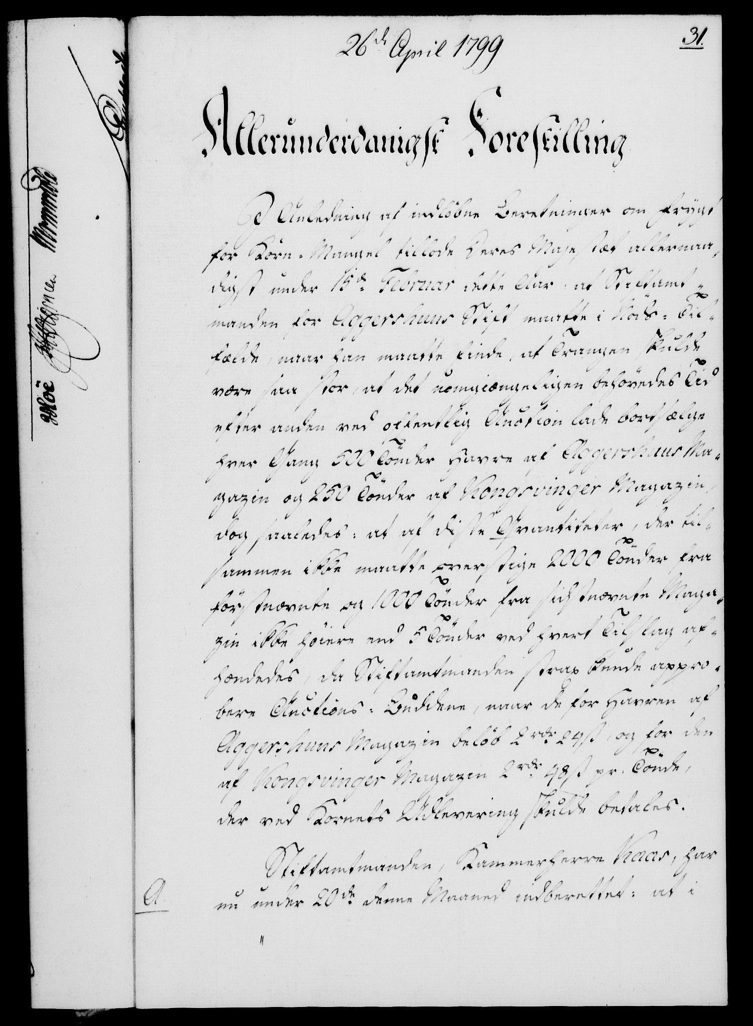 RA, Rentekammeret, Kammerkanselliet, G/Gf/Gfa/L0081: Norsk relasjons- og resolusjonsprotokoll (merket RK 52.81), 1799, s. 208