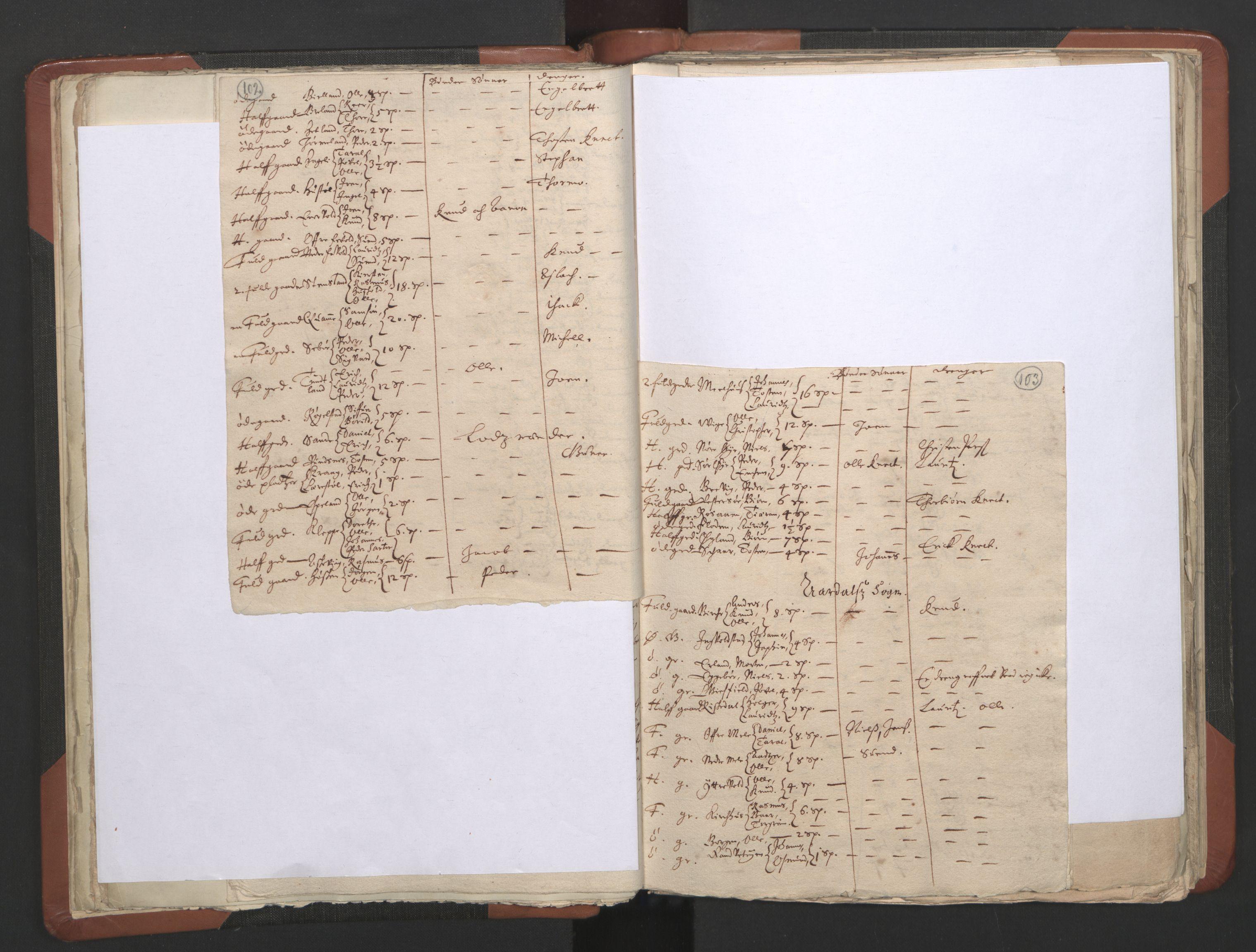 RA, Sogneprestenes manntall 1664-1666, nr. 19: Ryfylke prosti, 1664-1666, s. 102-103