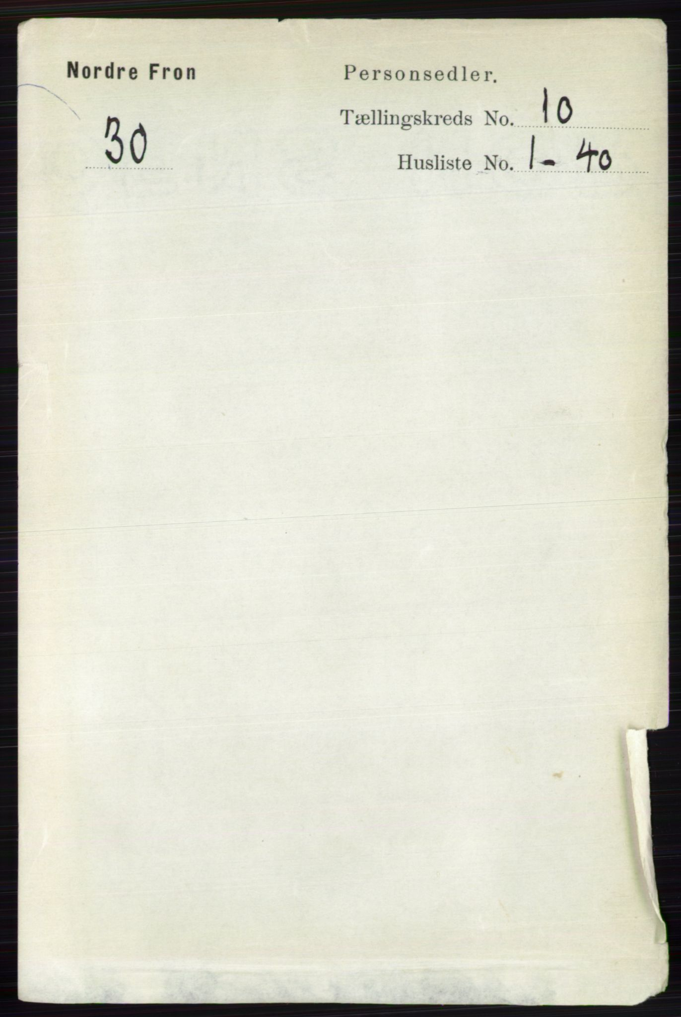 RA, Folketelling 1891 for 0518 Nord-Fron herred, 1891, s. 4386