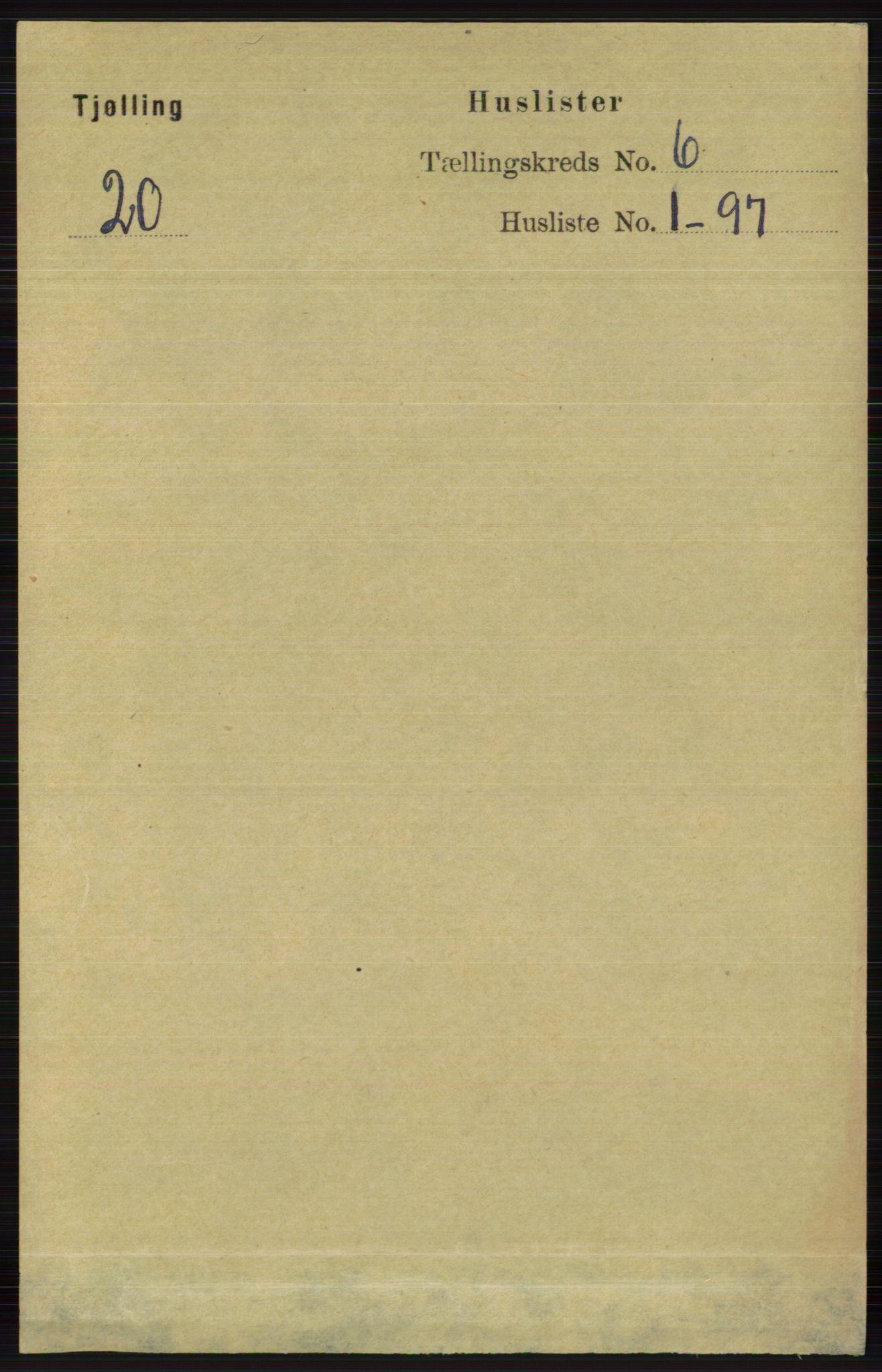 RA, Folketelling 1891 for 0725 Tjølling herred, 1891, s. 2800