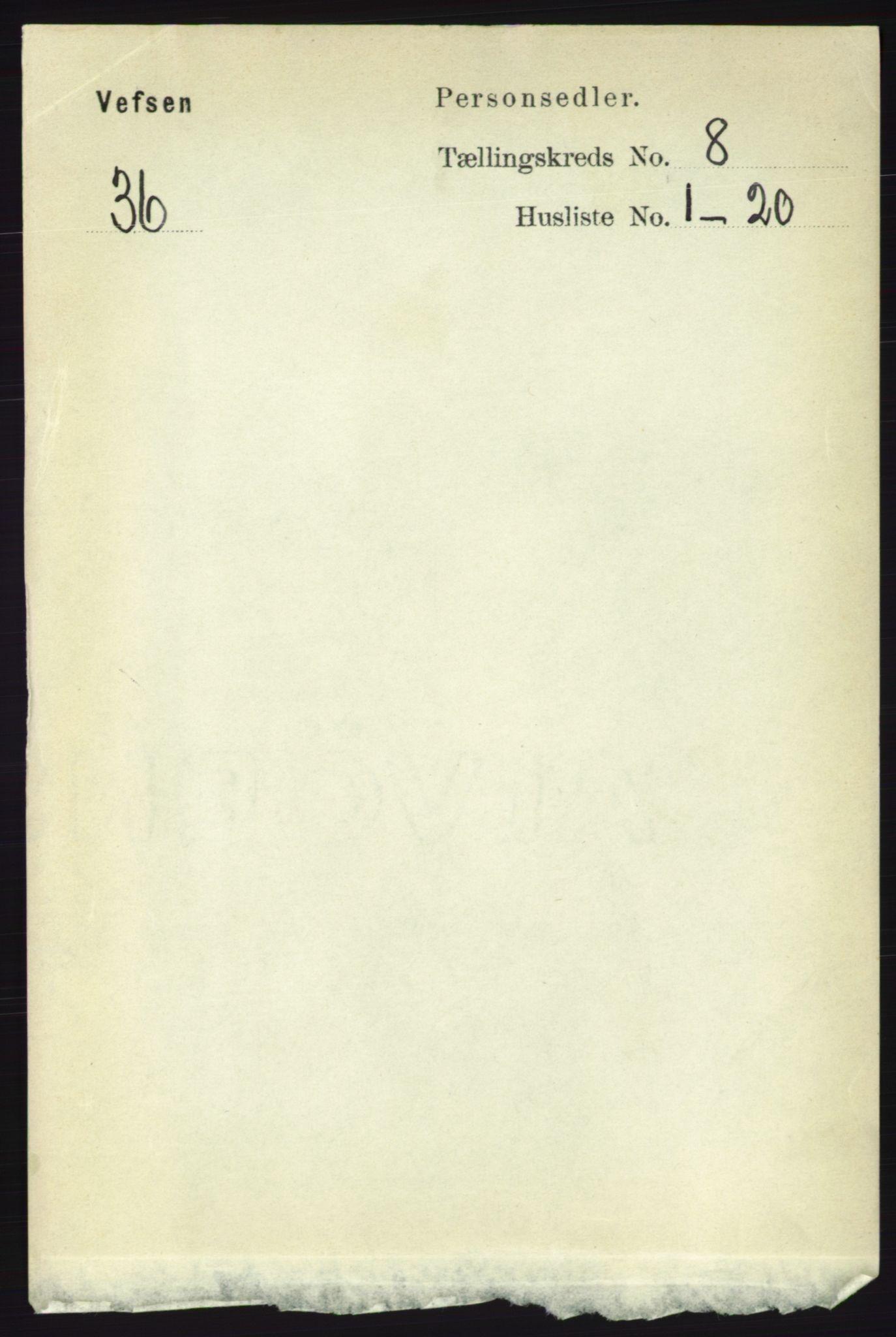 RA, Folketelling 1891 for 1824 Vefsn herred, 1891, s. 4235