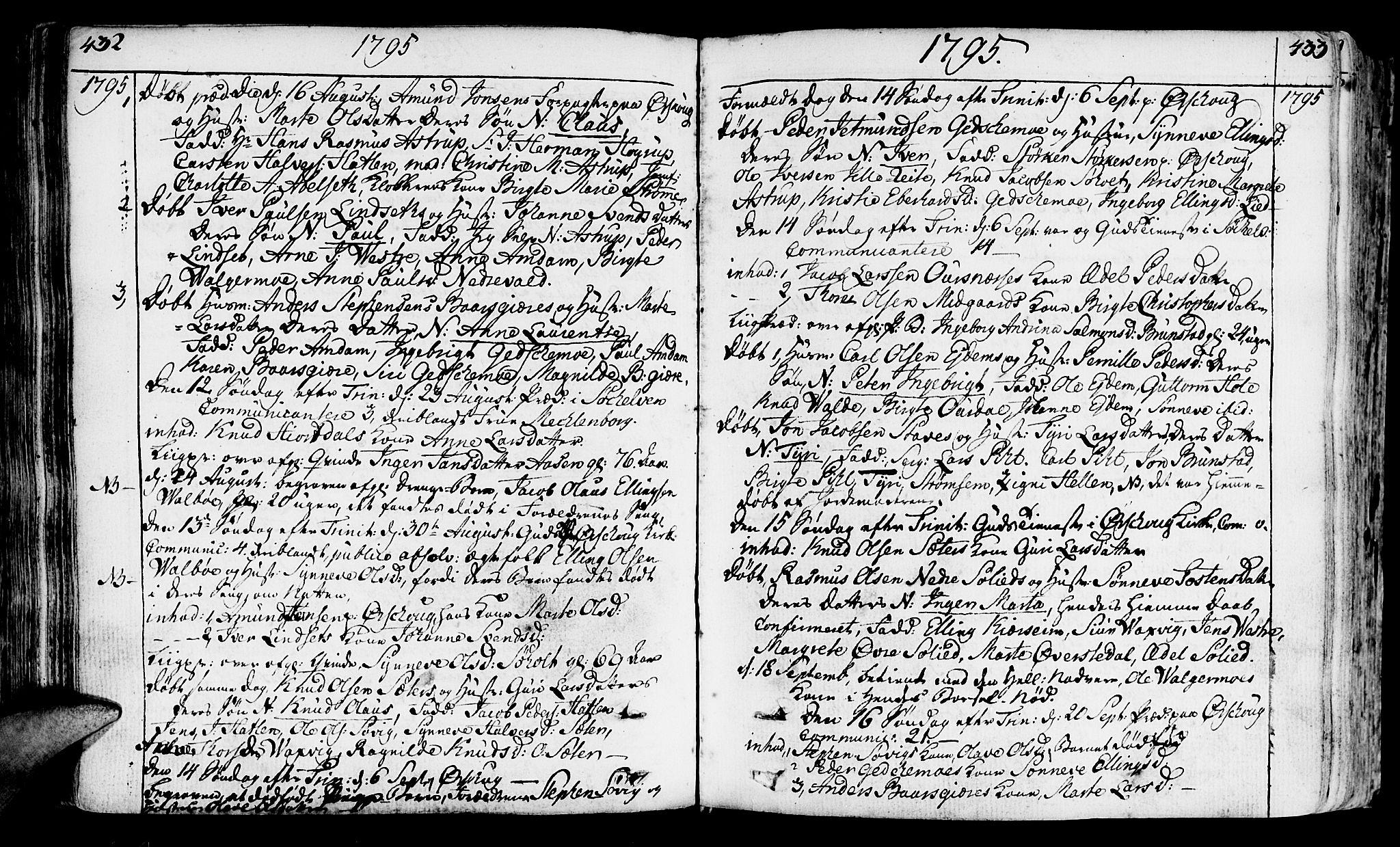 SAT, Ministerialprotokoller, klokkerbøker og fødselsregistre - Møre og Romsdal, 522/L0308: Ministerialbok nr. 522A03, 1773-1809, s. 432-433