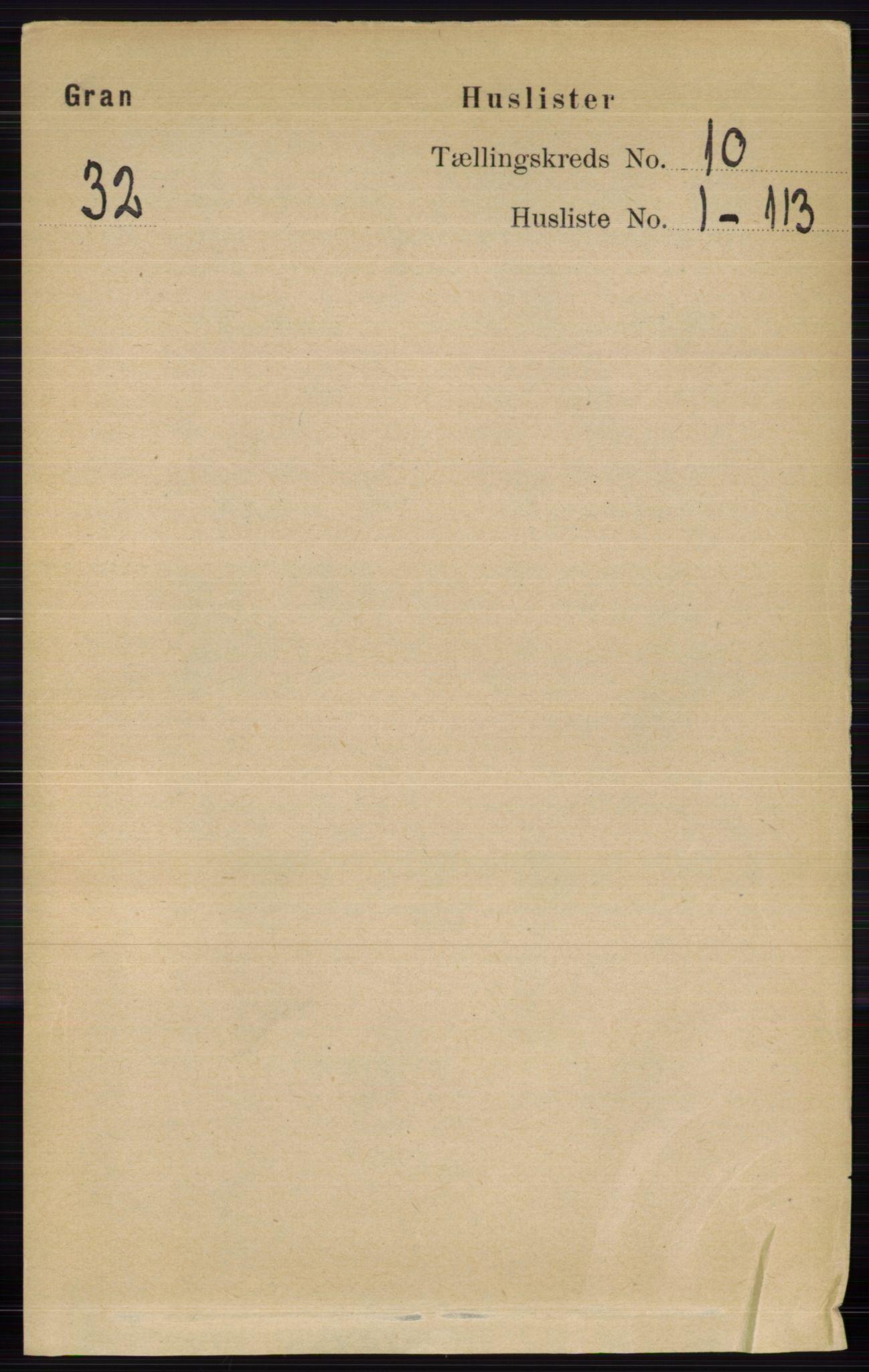 RA, Folketelling 1891 for 0534 Gran herred, 1891, s. 4569