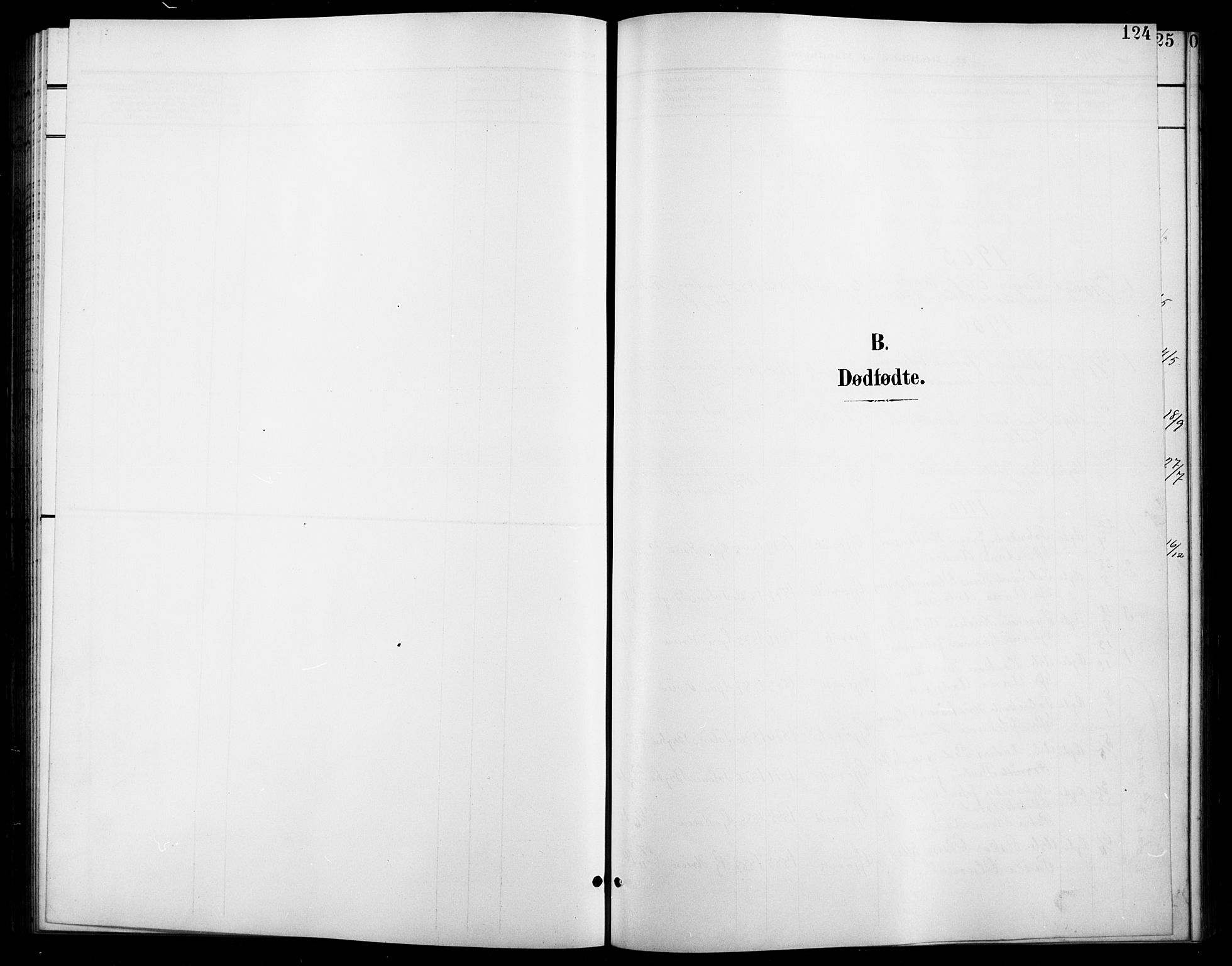 SAH, Vardal prestekontor, H/Ha/Hab/L0012: Klokkerbok nr. 12, 1902-1911, s. 124