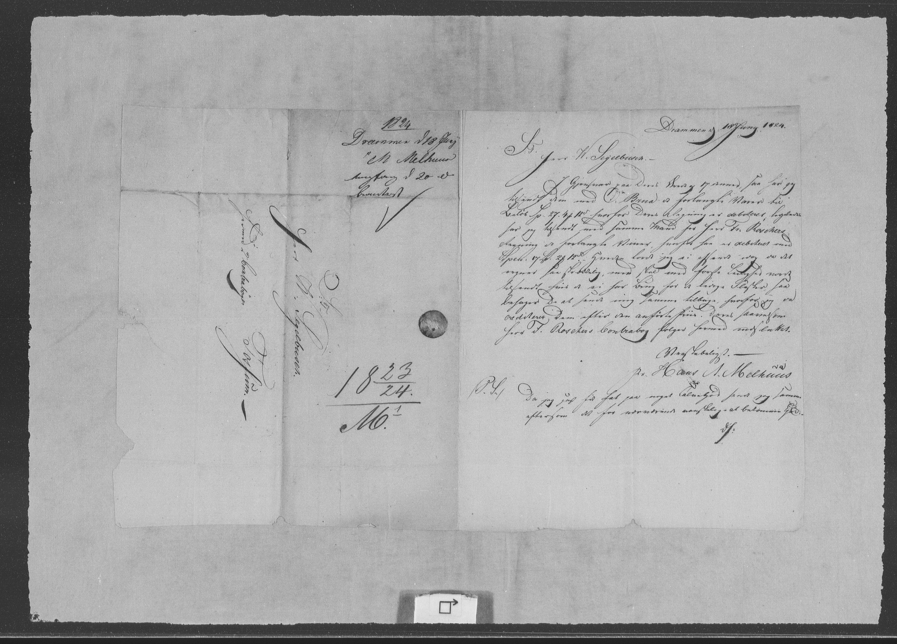 RA, Modums Blaafarveværk, G/Gb/L0092, 1823-1824, s. 2
