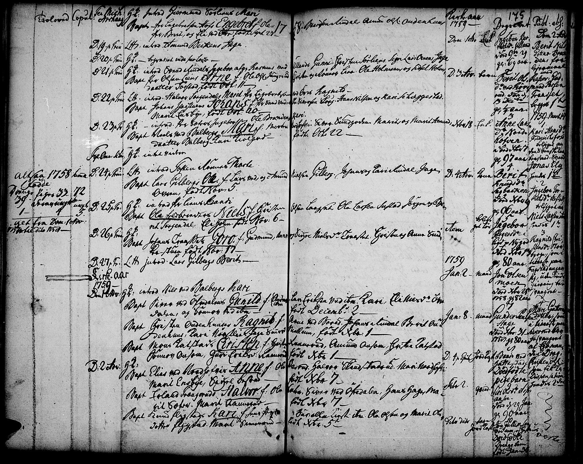SAH, Fåberg prestekontor, Ministerialbok nr. 1, 1727-1775, s. 175