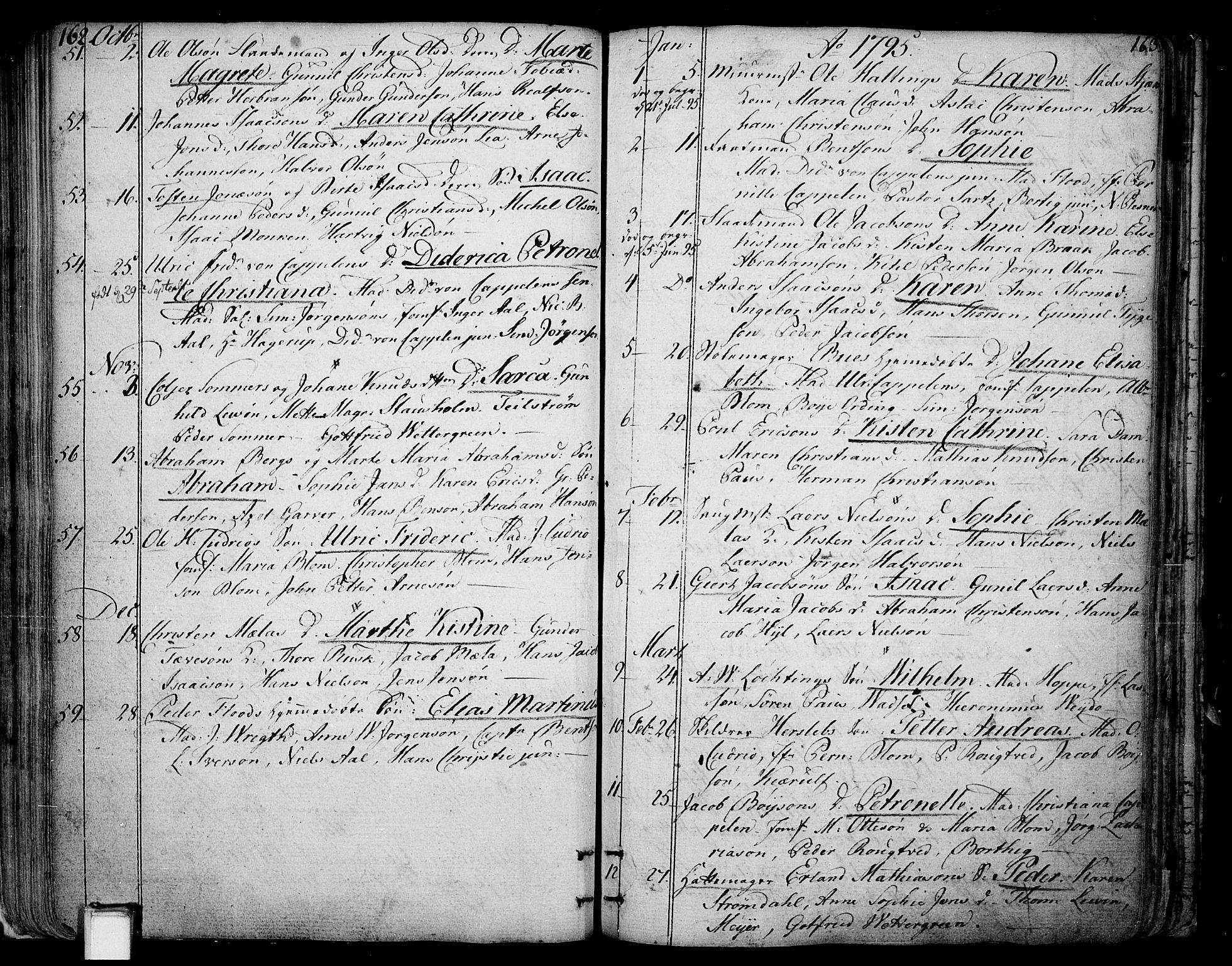 SAKO, Skien kirkebøker, F/Fa/L0004: Ministerialbok nr. 4, 1792-1814, s. 162-163