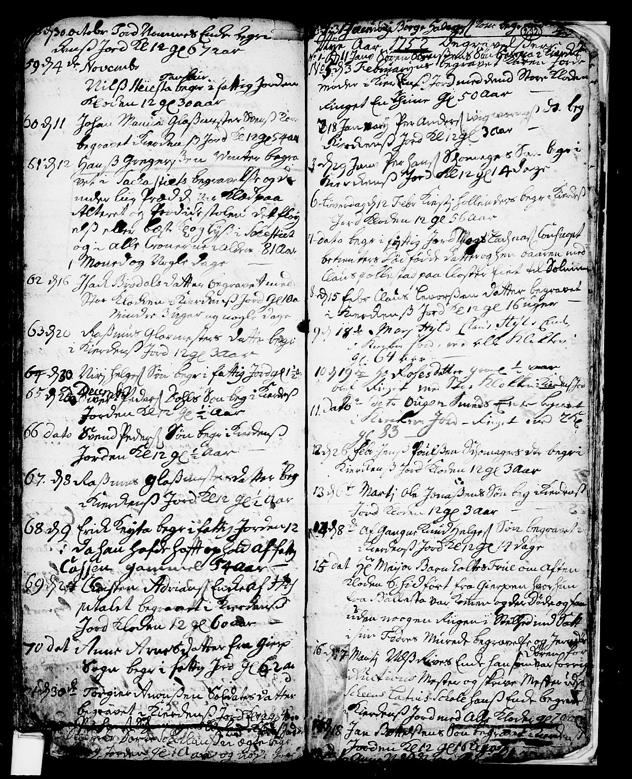 SAKO, Skien kirkebøker, F/Fa/L0002: Ministerialbok nr. 2, 1716-1757, s. 232