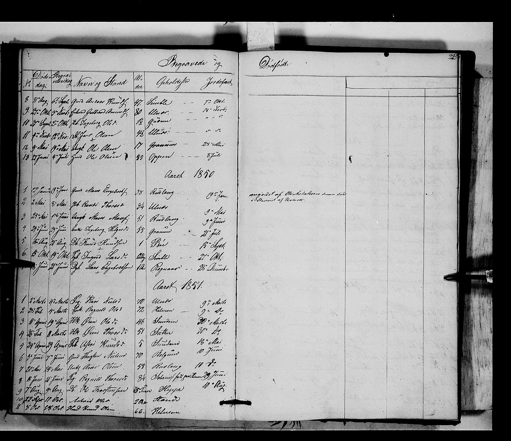 SAH, Nord-Aurdal prestekontor, Ministerialbok nr. 6, 1842-1863, s. 225