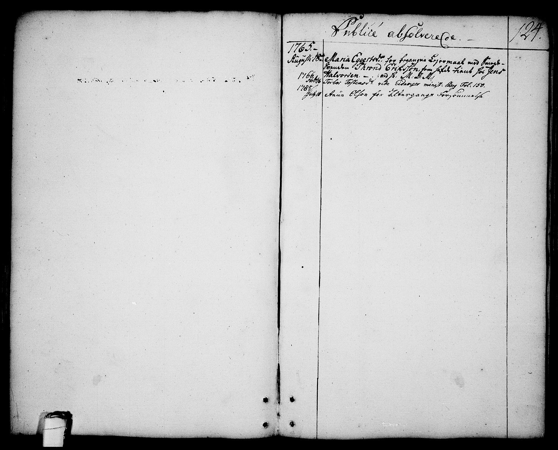 SAKO, Brevik kirkebøker, F/Fa/L0003: Ministerialbok nr. 3, 1764-1814, s. 124
