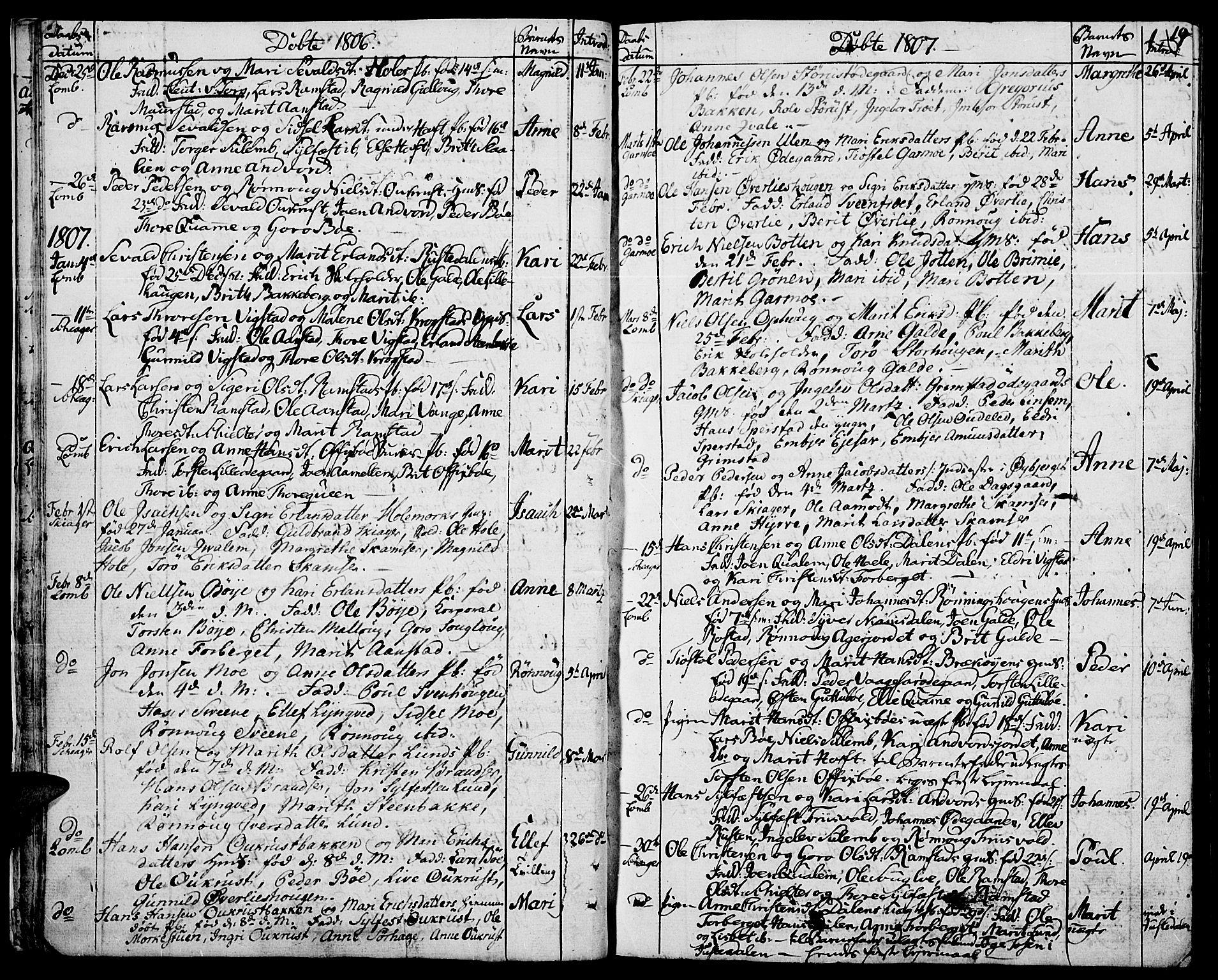 SAH, Lom prestekontor, K/L0003: Ministerialbok nr. 3, 1801-1825, s. 19