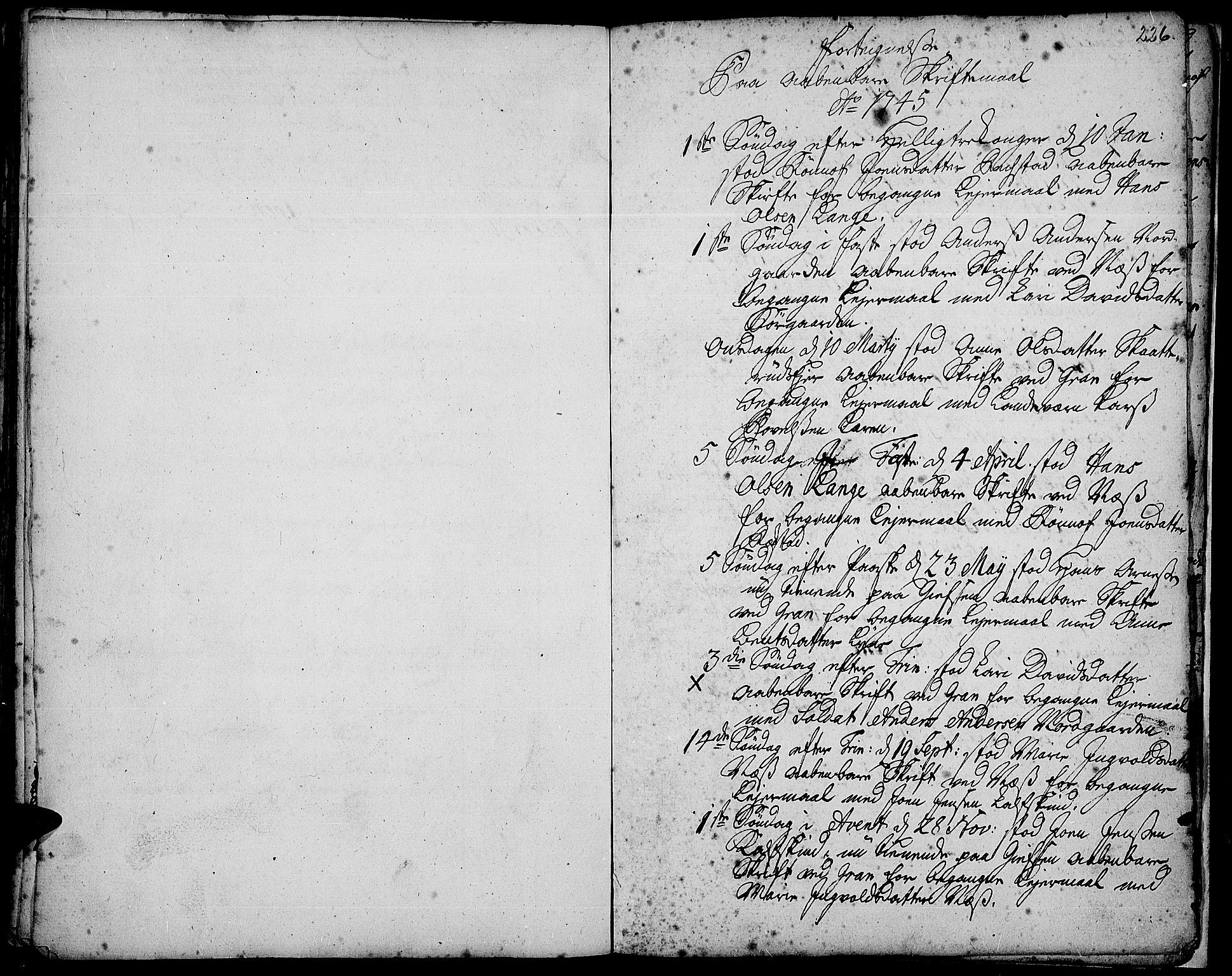 SAH, Gran prestekontor, Ministerialbok nr. 3, 1745-1758, s. 226