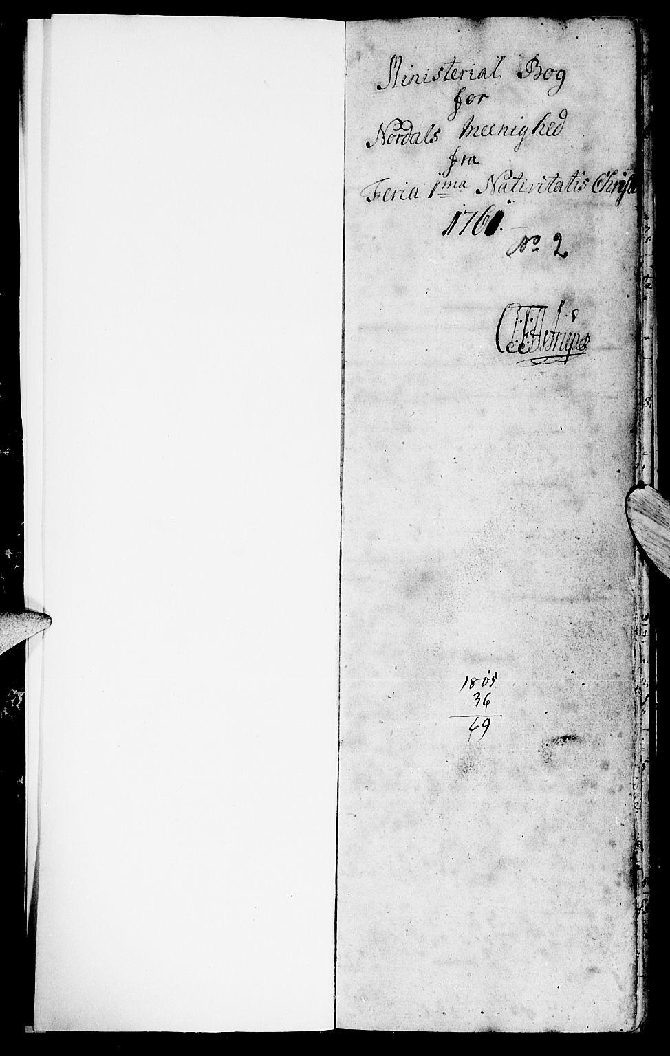 SAT, Ministerialprotokoller, klokkerbøker og fødselsregistre - Møre og Romsdal, 519/L0243: Ministerialbok nr. 519A02, 1760-1770