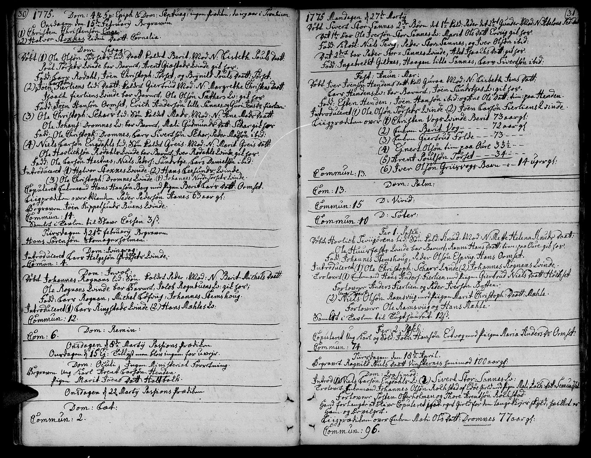 SAT, Ministerialprotokoller, klokkerbøker og fødselsregistre - Møre og Romsdal, 578/L0902: Ministerialbok nr. 578A01, 1772-1819, s. 30-31