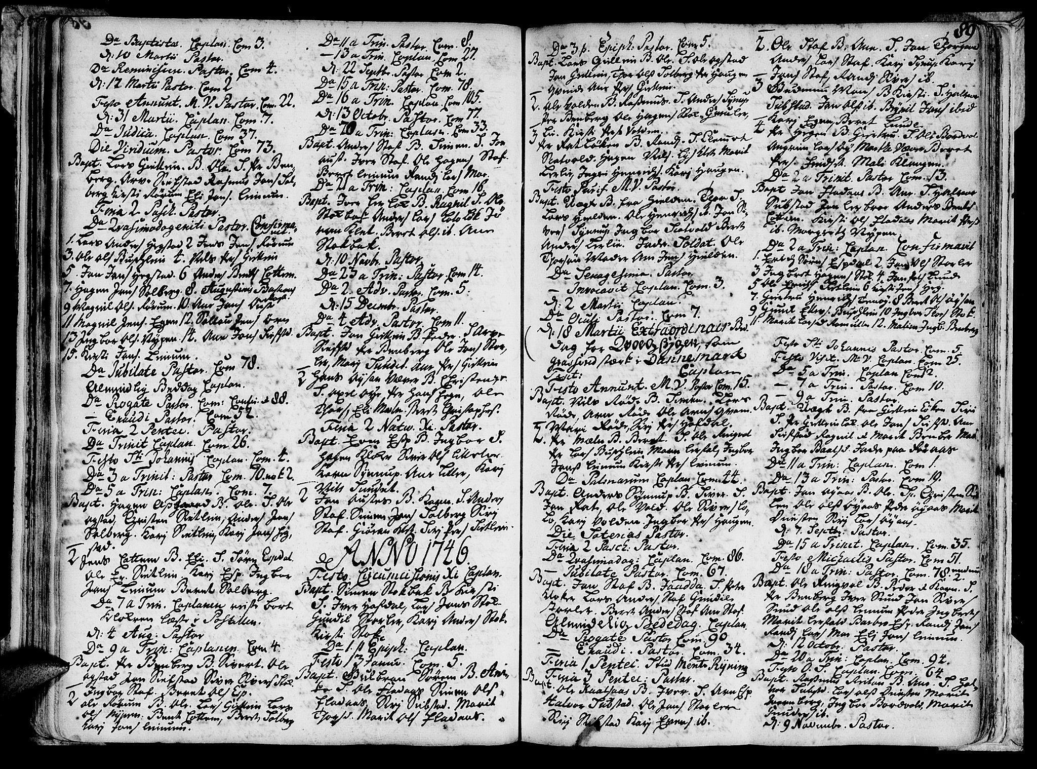 SAT, Ministerialprotokoller, klokkerbøker og fødselsregistre - Sør-Trøndelag, 691/L1059: Ministerialbok nr. 691A01 /3, 1740-1767, s. 89