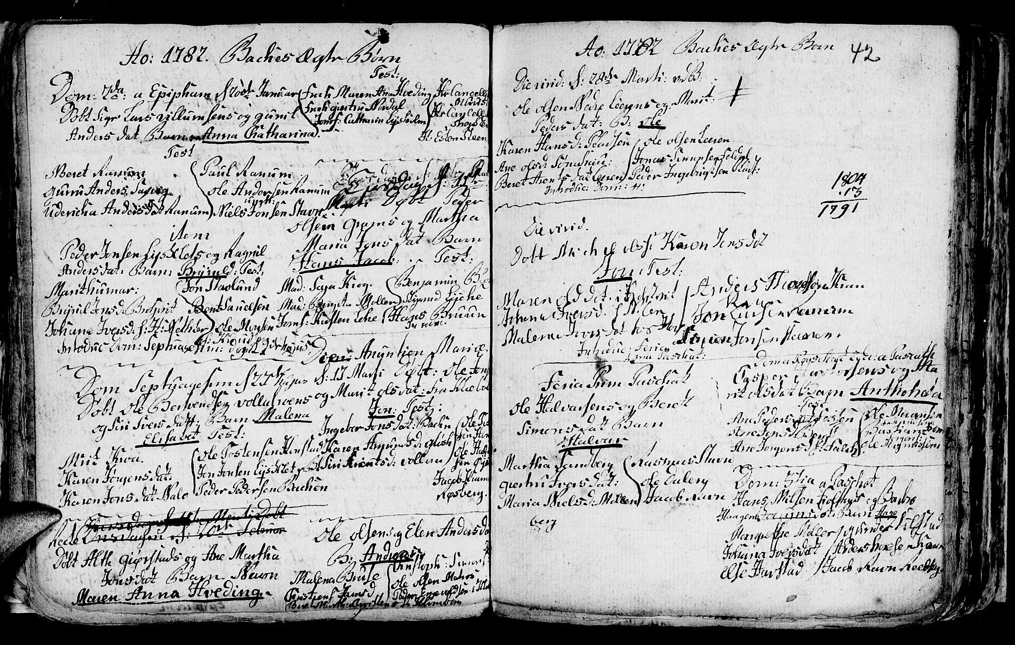 SAT, Ministerialprotokoller, klokkerbøker og fødselsregistre - Sør-Trøndelag, 604/L0218: Klokkerbok nr. 604C01, 1754-1819, s. 42