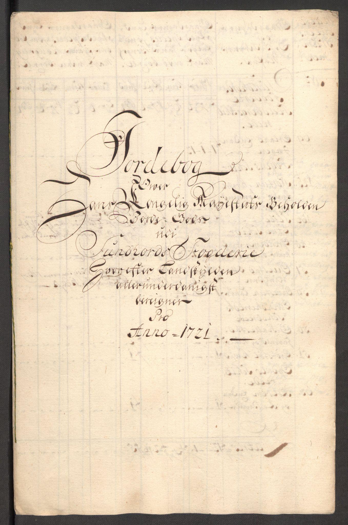 RA, Rentekammeret inntil 1814, Reviderte regnskaper, Fogderegnskap, R48/L3000: Fogderegnskap Sunnhordland og Hardanger, 1721, s. 98