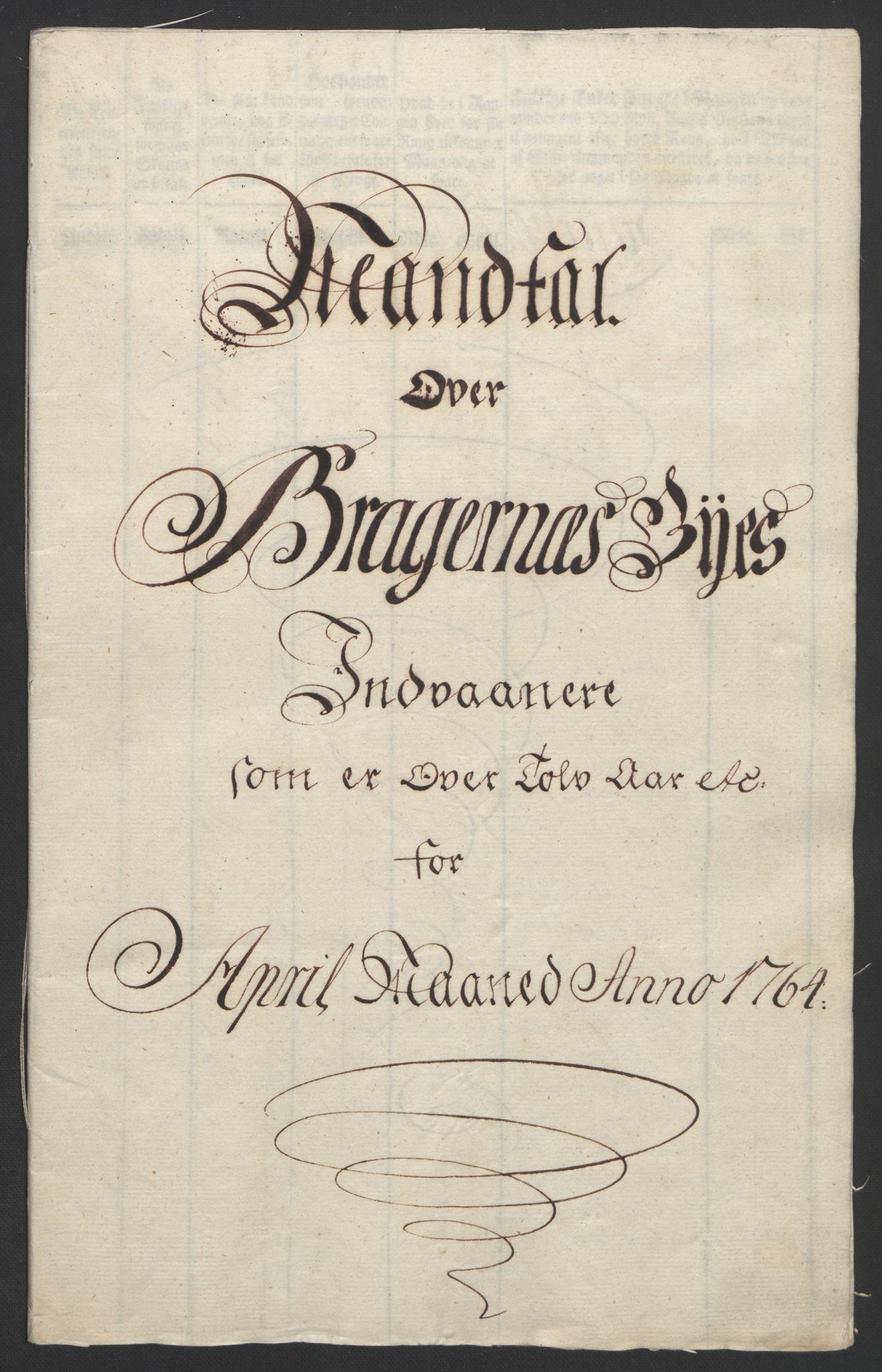 RA, Rentekammeret inntil 1814, Reviderte regnskaper, Byregnskaper, R/Rf/L0119: [F2] Kontribusjonsregnskap, 1762-1767, s. 159