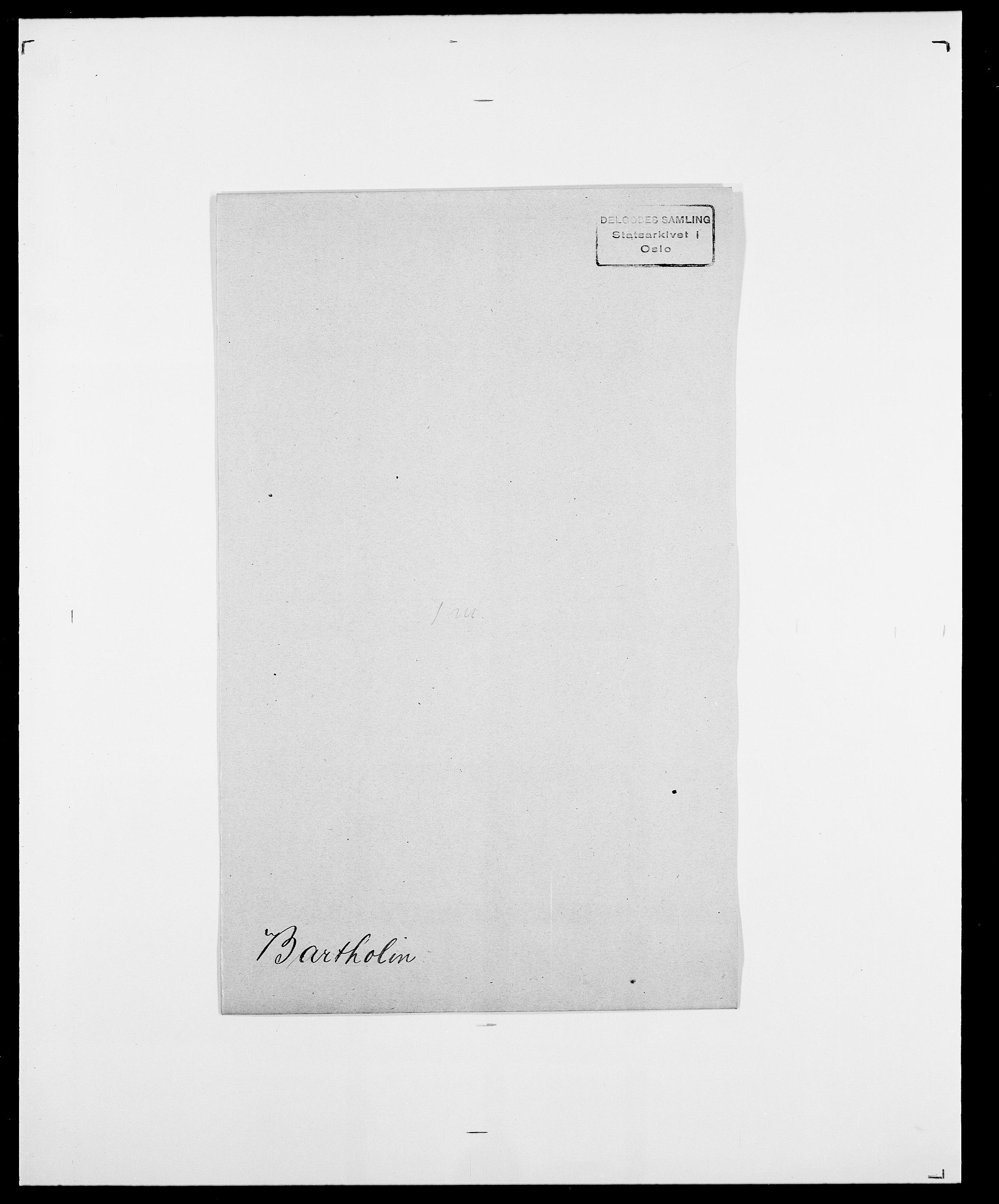 SAO, Delgobe, Charles Antoine - samling, D/Da/L0003: Barca - Bergen, s. 395