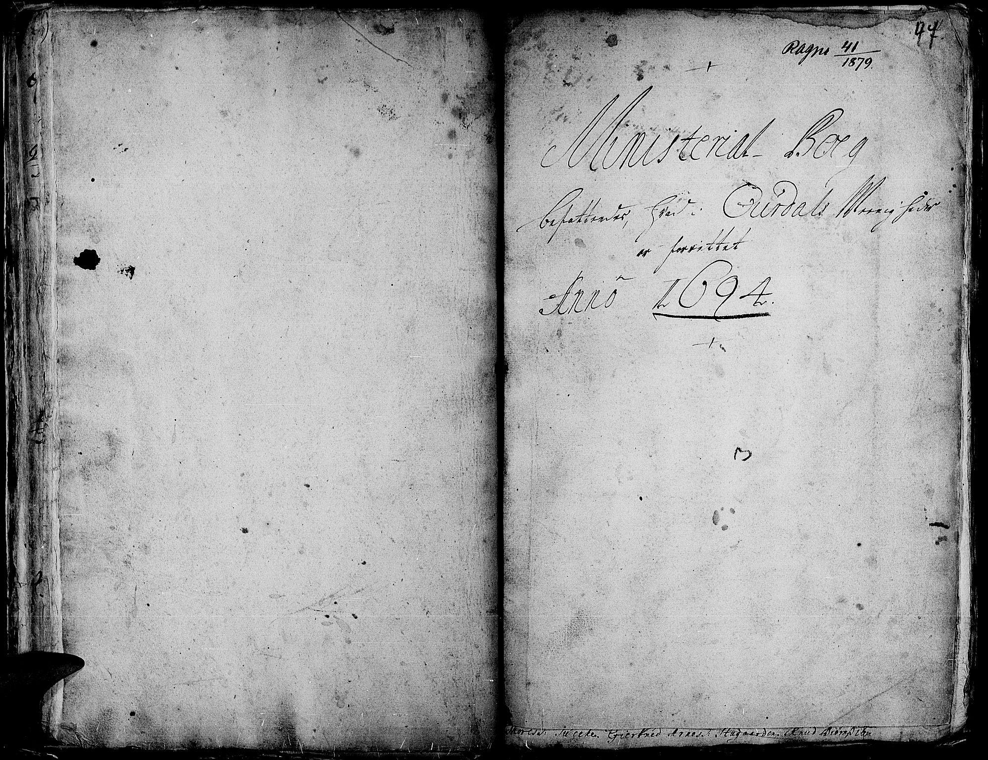 SAH, Aurdal prestekontor, Ministerialbok nr. 1-3, 1692-1730, s. 47