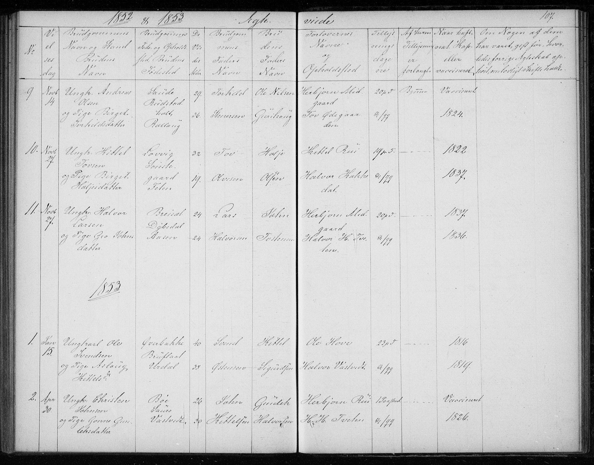SAKO, Gransherad kirkebøker, F/Fb/L0003: Ministerialbok nr. II 3, 1844-1859, s. 107