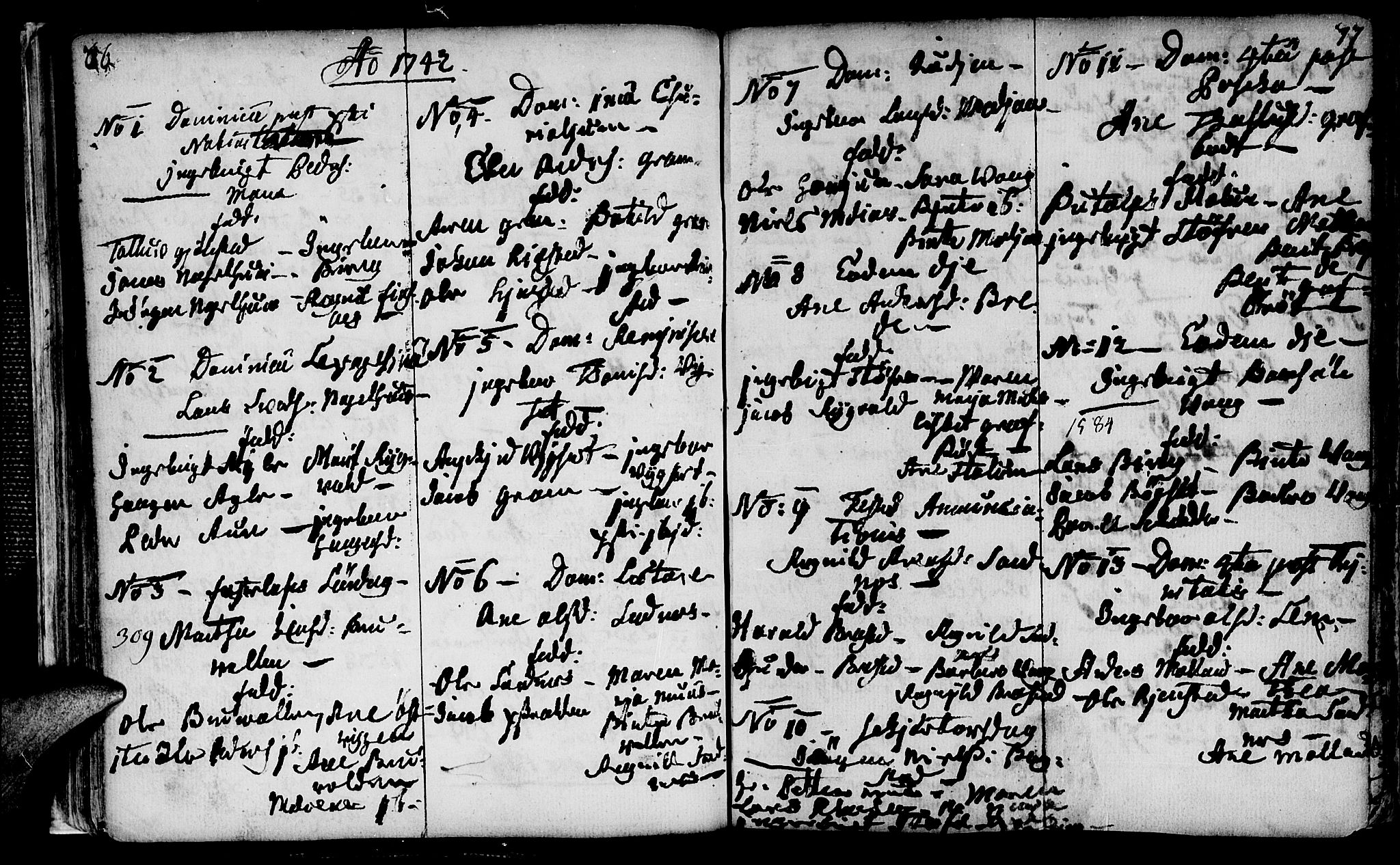SAT, Ministerialprotokoller, klokkerbøker og fødselsregistre - Nord-Trøndelag, 749/L0467: Ministerialbok nr. 749A01, 1733-1787, s. 76-77
