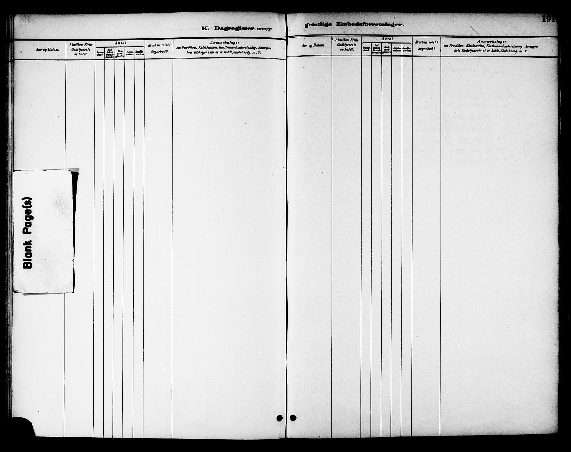 SAT, Ministerialprotokoller, klokkerbøker og fødselsregistre - Nord-Trøndelag, 768/L0575: Dagregister nr. 766A09, 1889-1931, s. 191