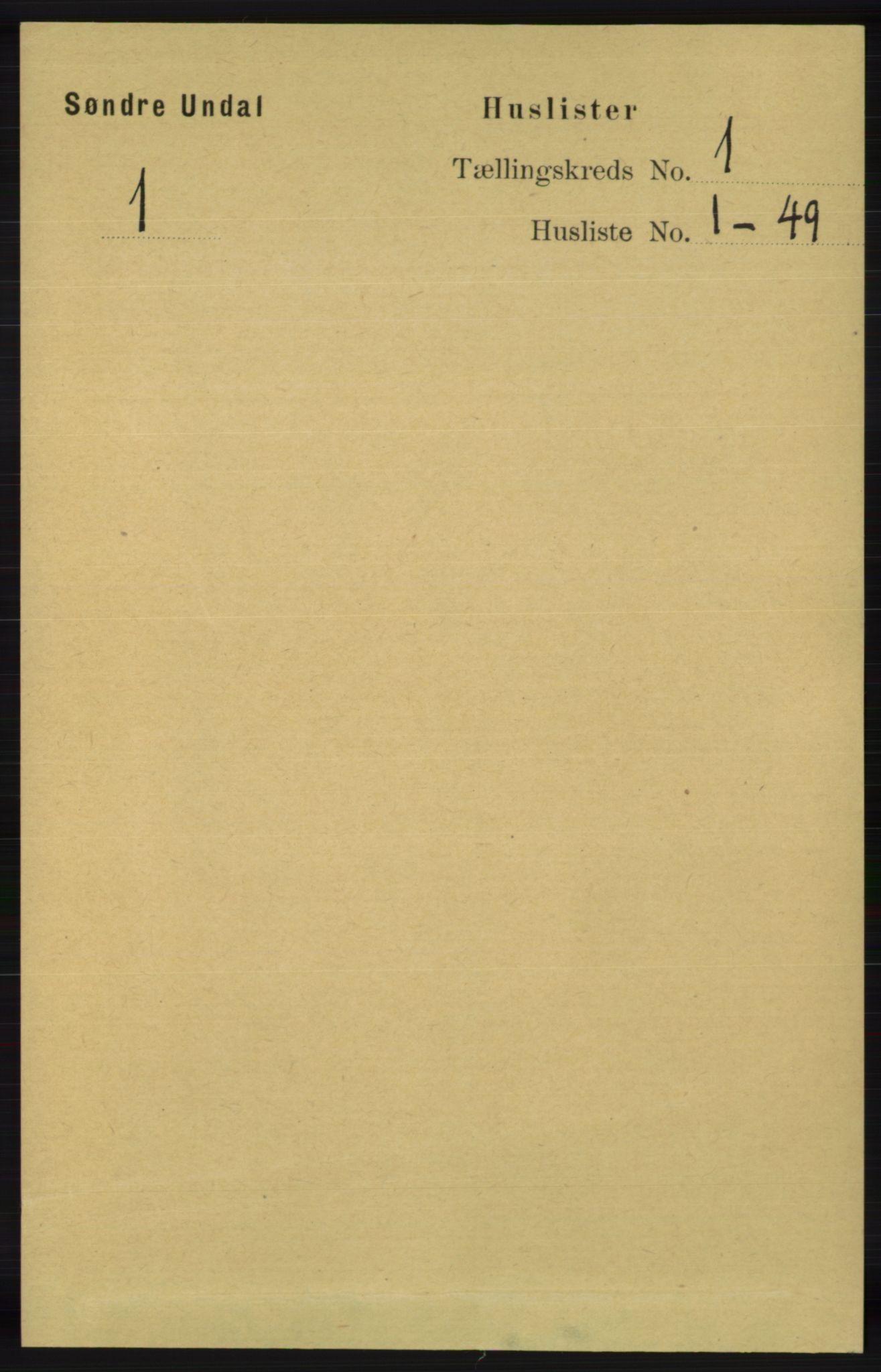 RA, Folketelling 1891 for 1029 Sør-Audnedal herred, 1891, s. 41