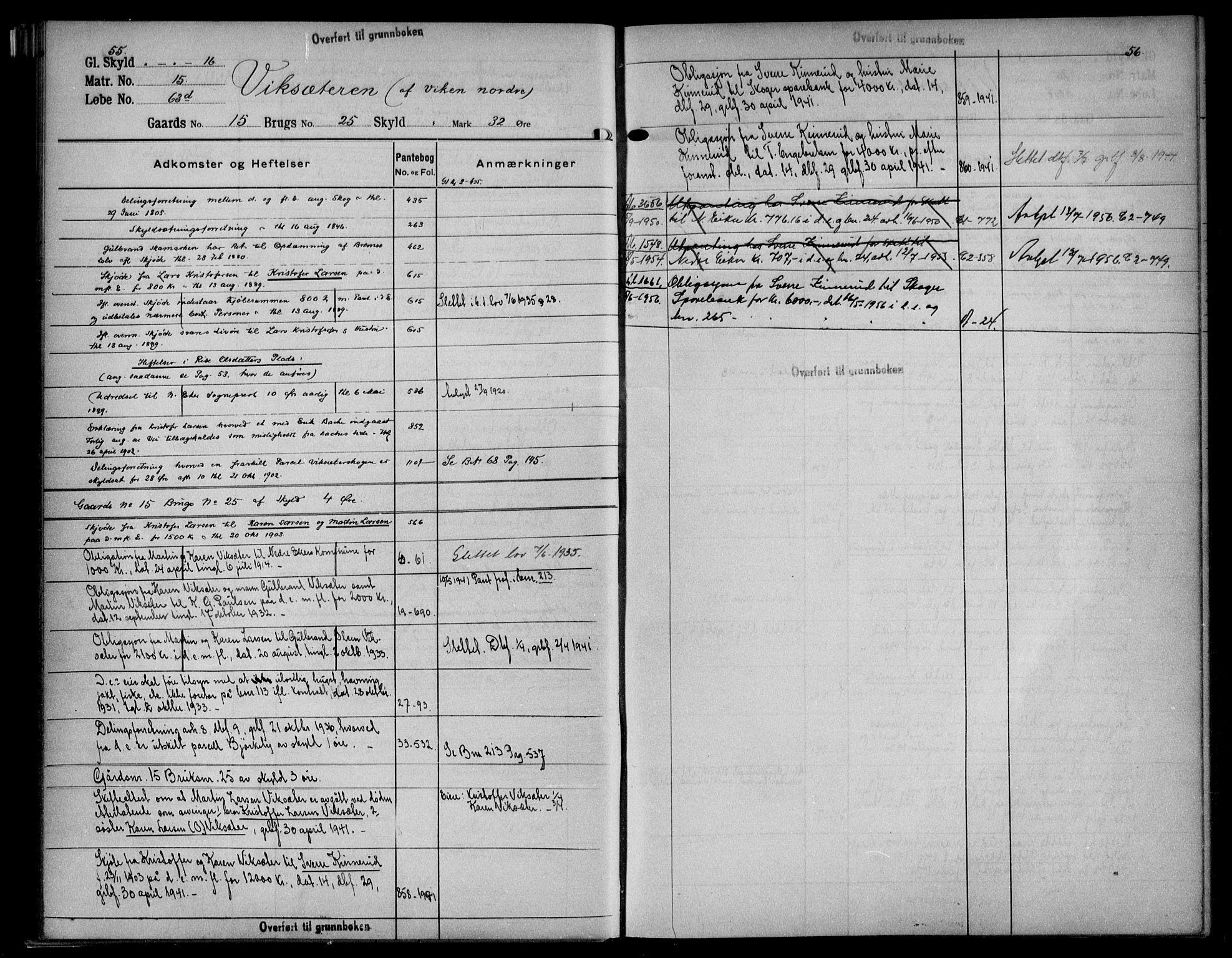 SAKO, Eiker, Modum og Sigdal sorenskriveri, G/Gb/Gbf/L0003: Panteregister nr. VI 3, s. 55-56