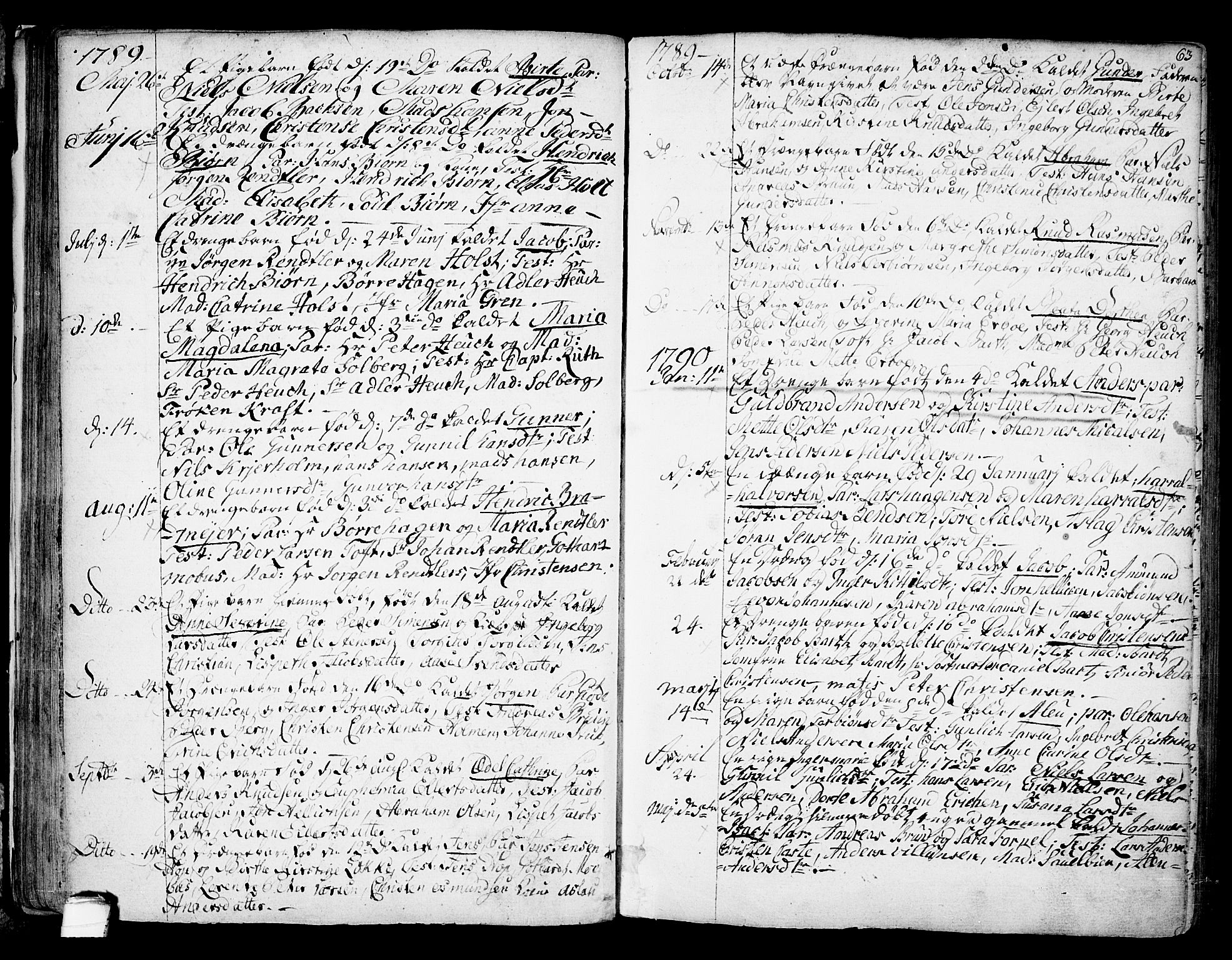 SAKO, Kragerø kirkebøker, F/Fa/L0002: Ministerialbok nr. 2, 1767-1802, s. 63
