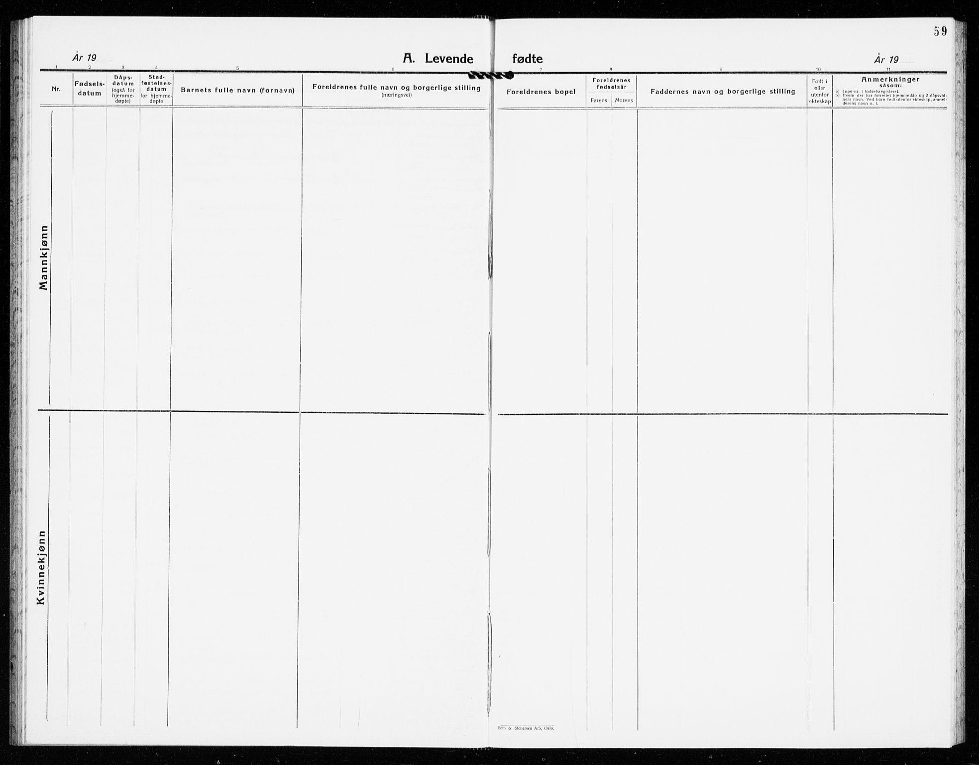 SAKO, Gjerpen kirkebøker, G/Ga/L0005: Klokkerbok nr. I 5, 1932-1940, s. 59