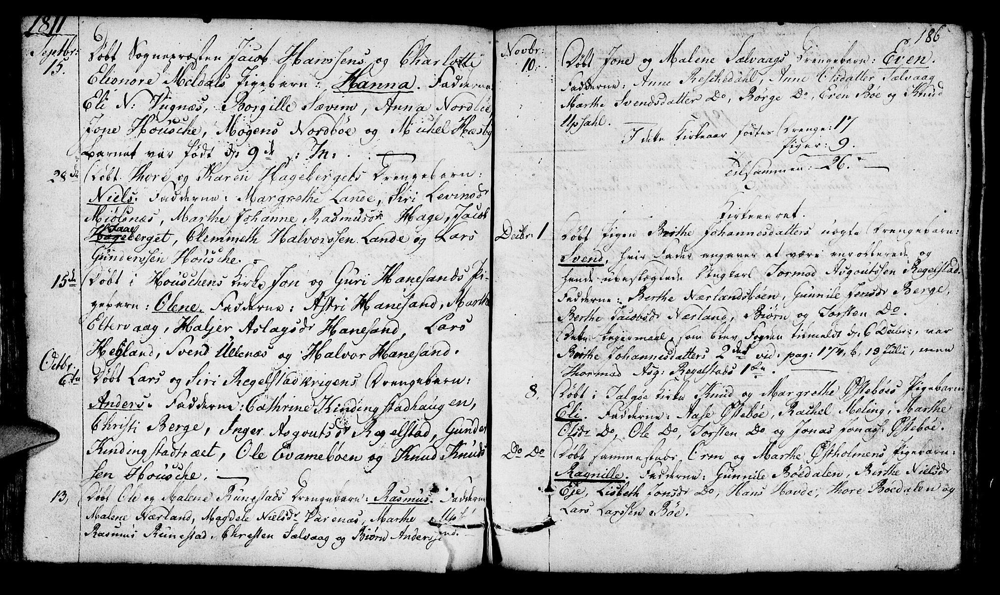 SAST, Finnøy sokneprestkontor, H/Ha/Haa/L0005: Ministerialbok nr. A 5, 1773-1816, s. 186