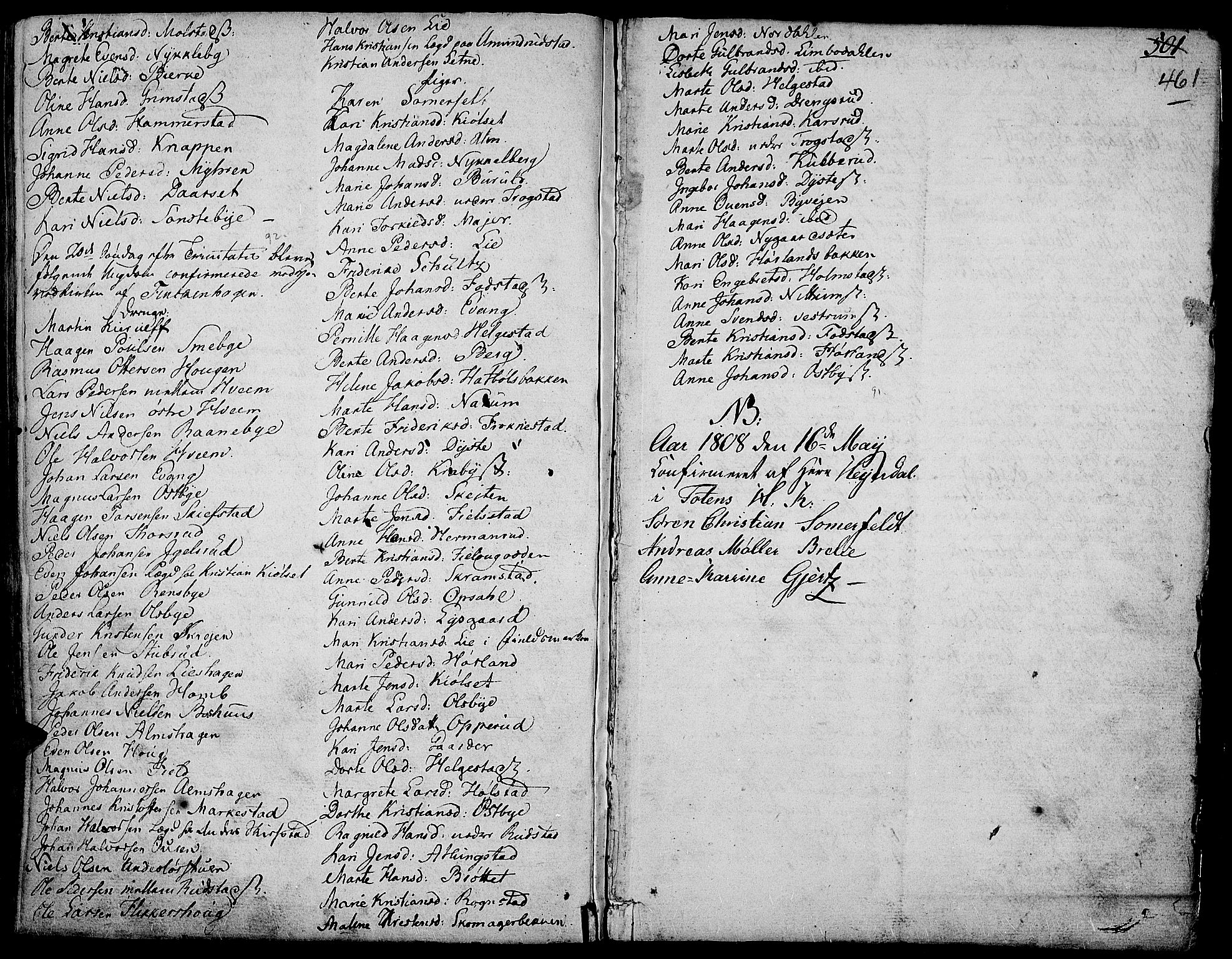 SAH, Toten prestekontor, Ministerialbok nr. 7, 1794-1809, s. 461