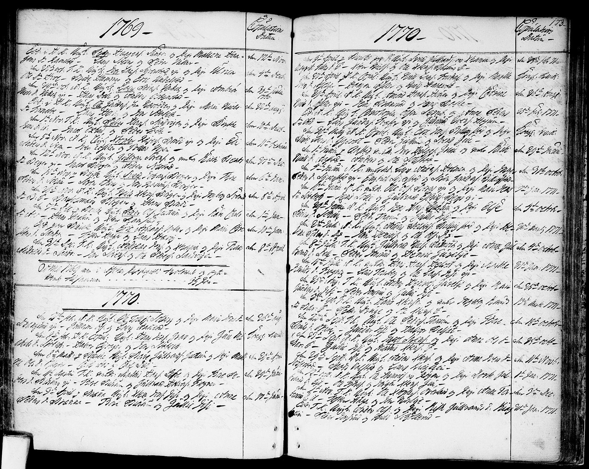 SAO, Asker prestekontor Kirkebøker, F/Fa/L0003: Ministerialbok nr. I 3, 1767-1807, s. 173