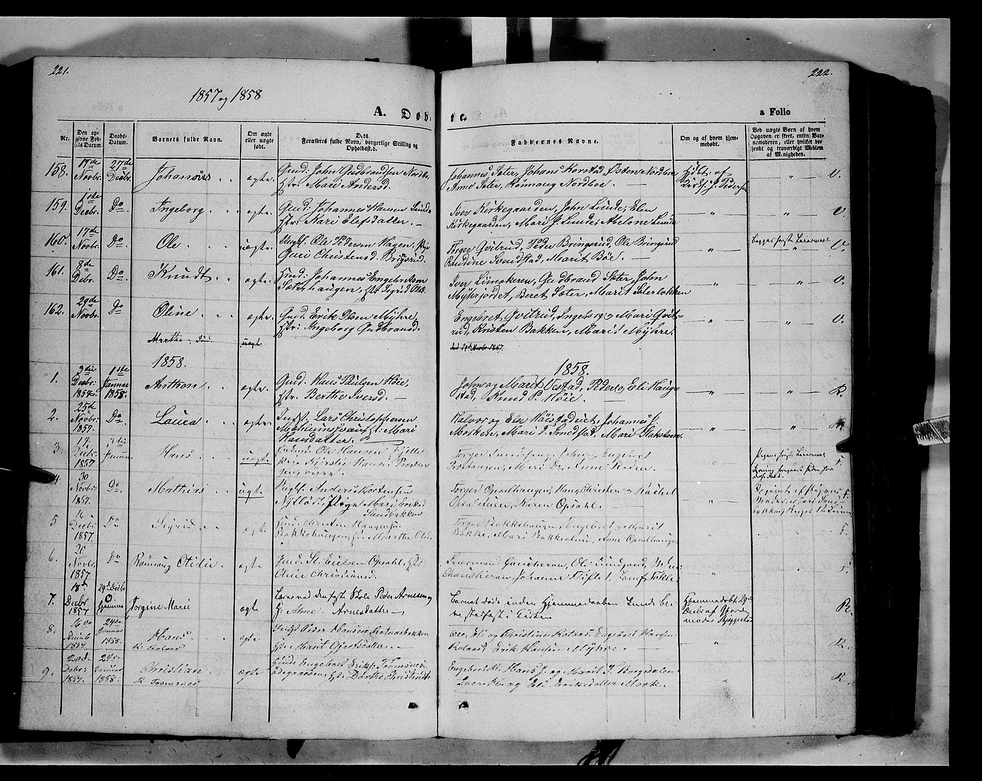 SAH, Ringebu prestekontor, Ministerialbok nr. 6, 1848-1859, s. 221-222