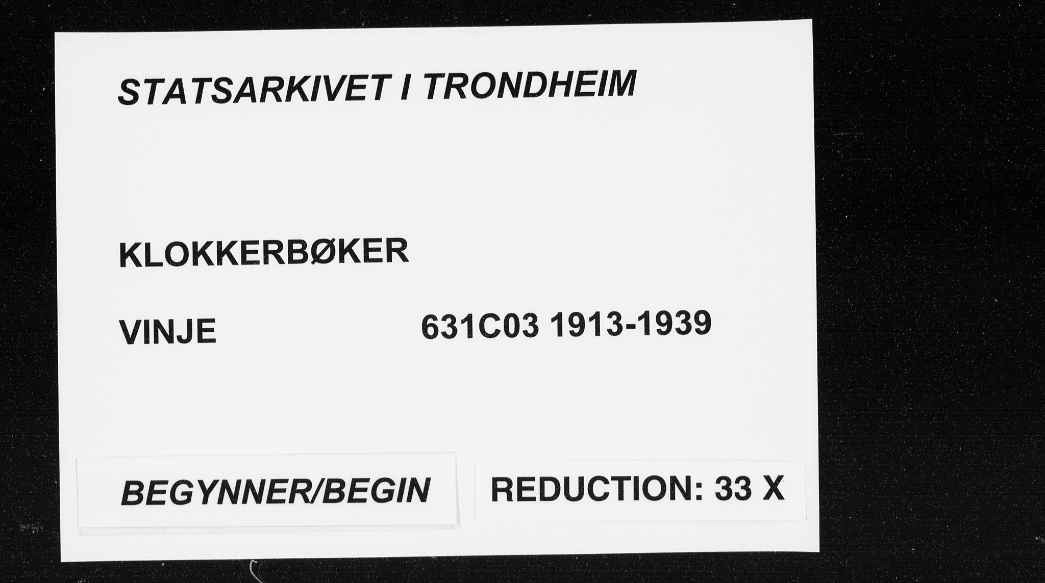 SAT, Ministerialprotokoller, klokkerbøker og fødselsregistre - Sør-Trøndelag, 631/L0515: Klokkerbok nr. 631C03, 1913-1939