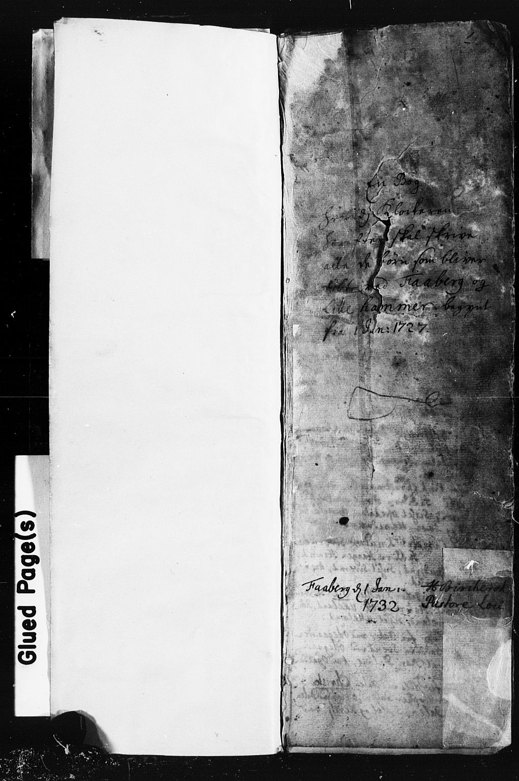 SAH, Fåberg prestekontor, Klokkerbok nr. 1, 1727-1767, s. 0-1