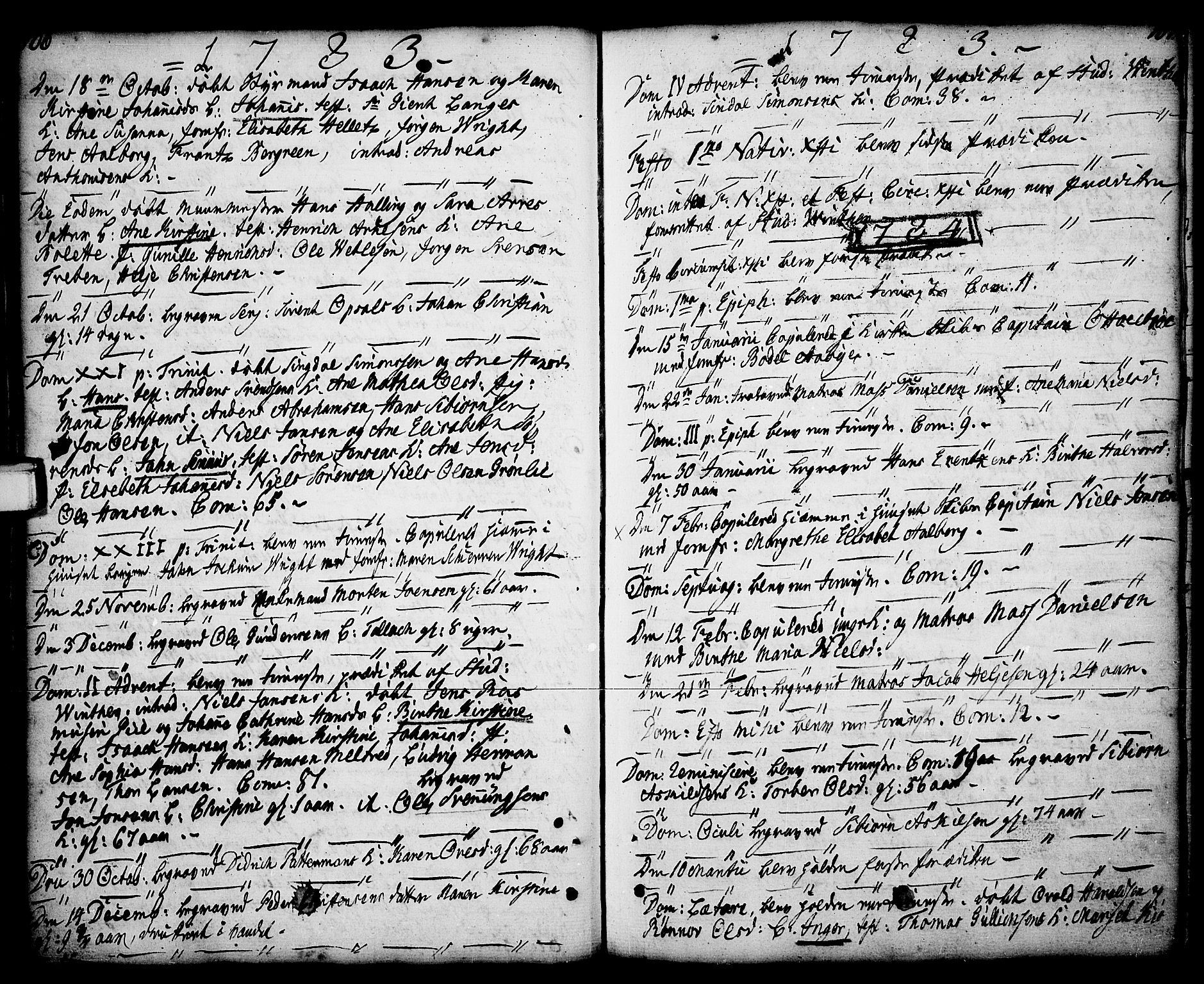 SAKO, Porsgrunn kirkebøker , F/Fa/L0001: Ministerialbok nr. 1, 1764-1814, s. 106-107