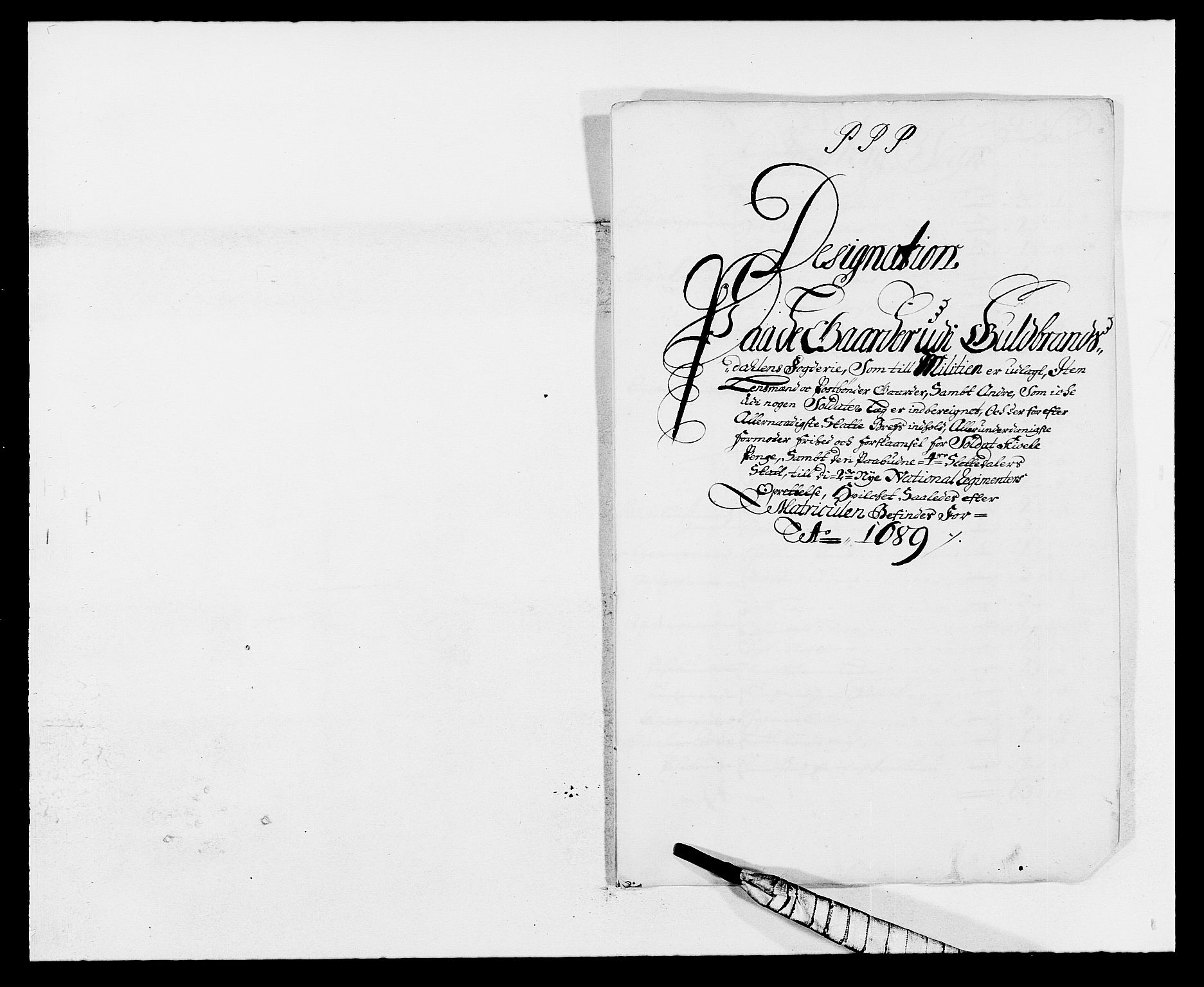 RA, Rentekammeret inntil 1814, Reviderte regnskaper, Fogderegnskap, R17/L1164: Fogderegnskap Gudbrandsdal, 1682-1689, s. 130