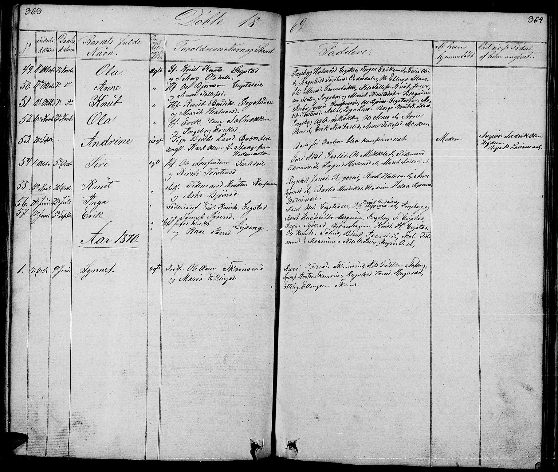 SAH, Nord-Aurdal prestekontor, Klokkerbok nr. 1, 1834-1887, s. 363-364