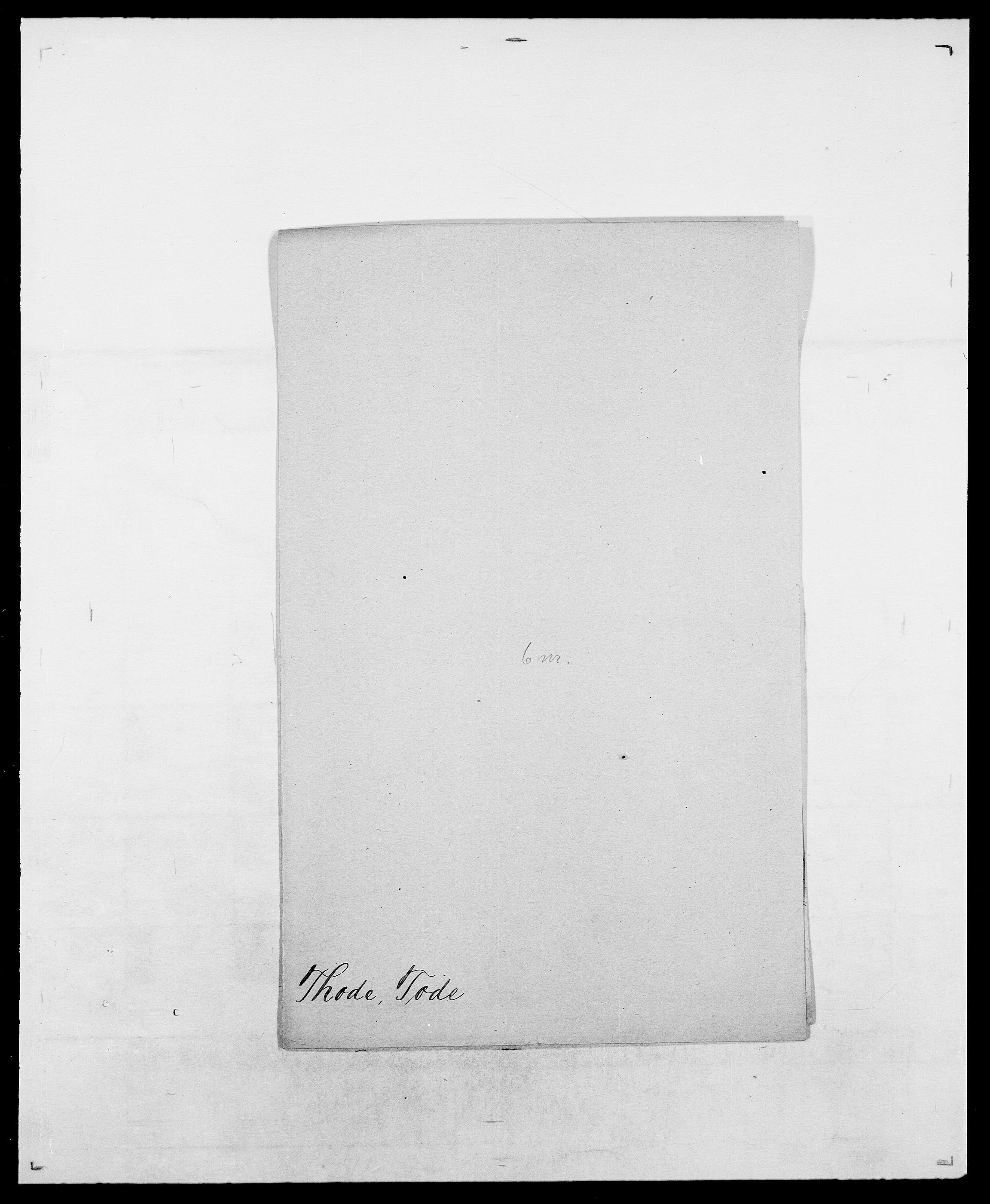 SAO, Delgobe, Charles Antoine - samling, D/Da/L0038: Svanenskjold - Thornsohn, s. 748