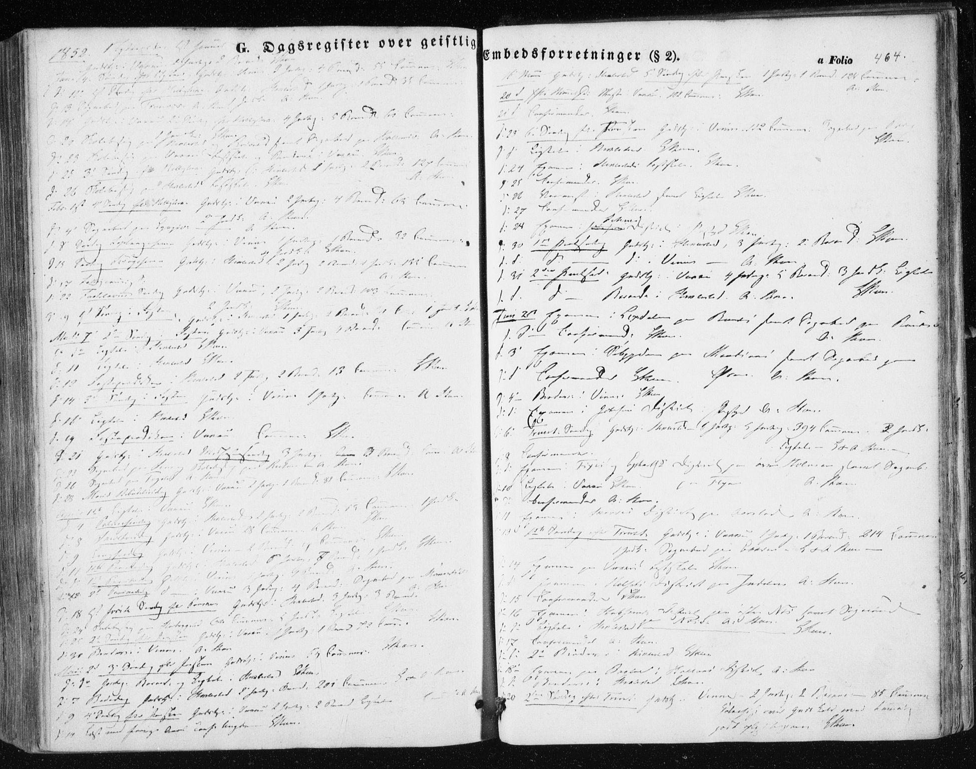SAT, Ministerialprotokoller, klokkerbøker og fødselsregistre - Nord-Trøndelag, 723/L0240: Ministerialbok nr. 723A09, 1852-1860, s. 464