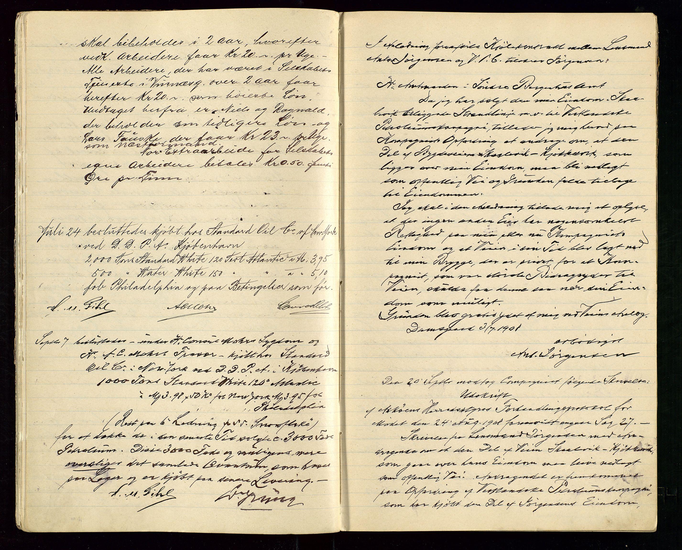 SAST, PA 1533 - A/S Vestlandske Petroleumscompani, A/Aa/L0001: Generalforsamlinger og styreprotokoller, 1907-1915, s. 9