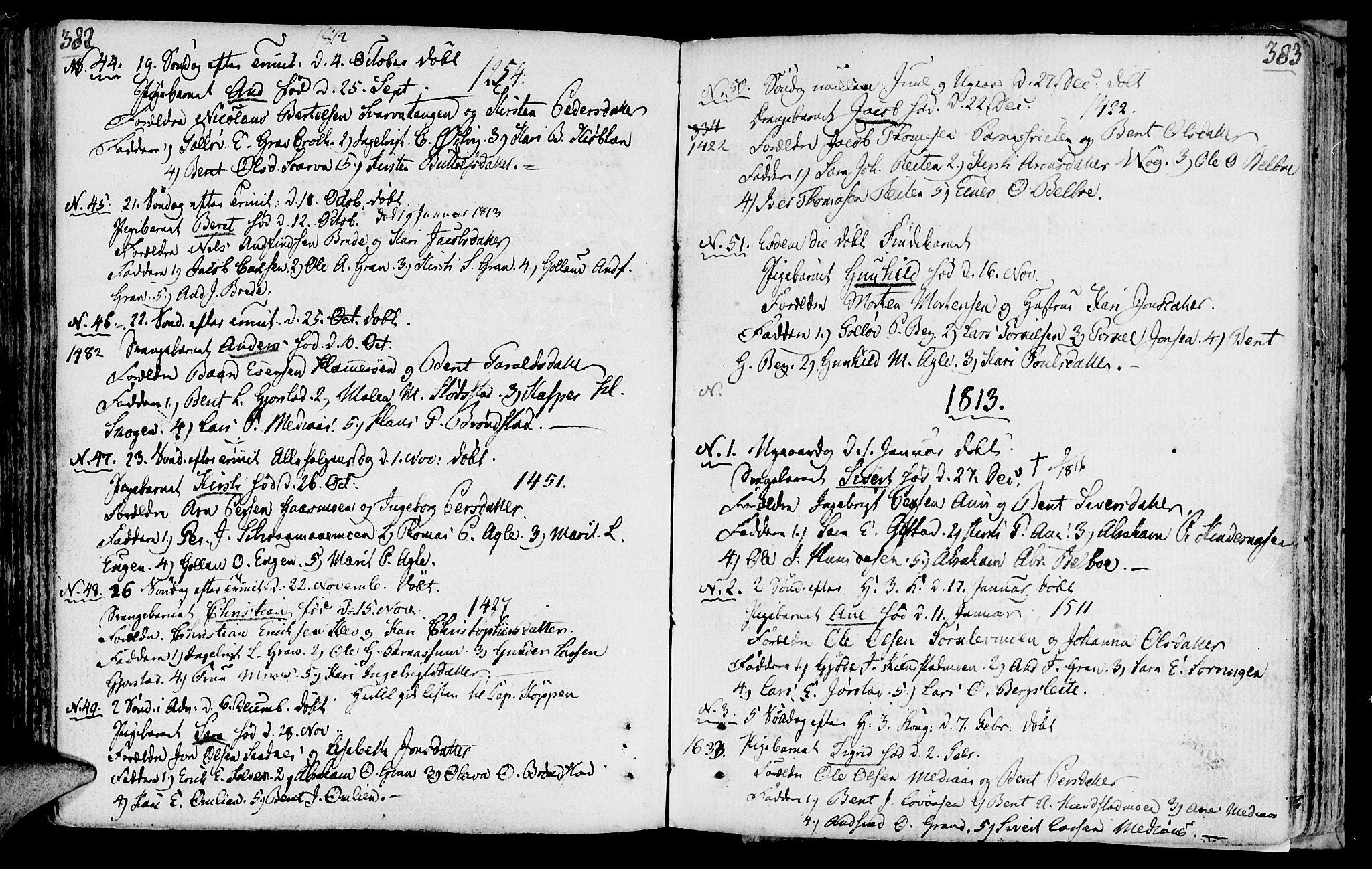 SAT, Ministerialprotokoller, klokkerbøker og fødselsregistre - Nord-Trøndelag, 749/L0468: Ministerialbok nr. 749A02, 1787-1817, s. 382-383