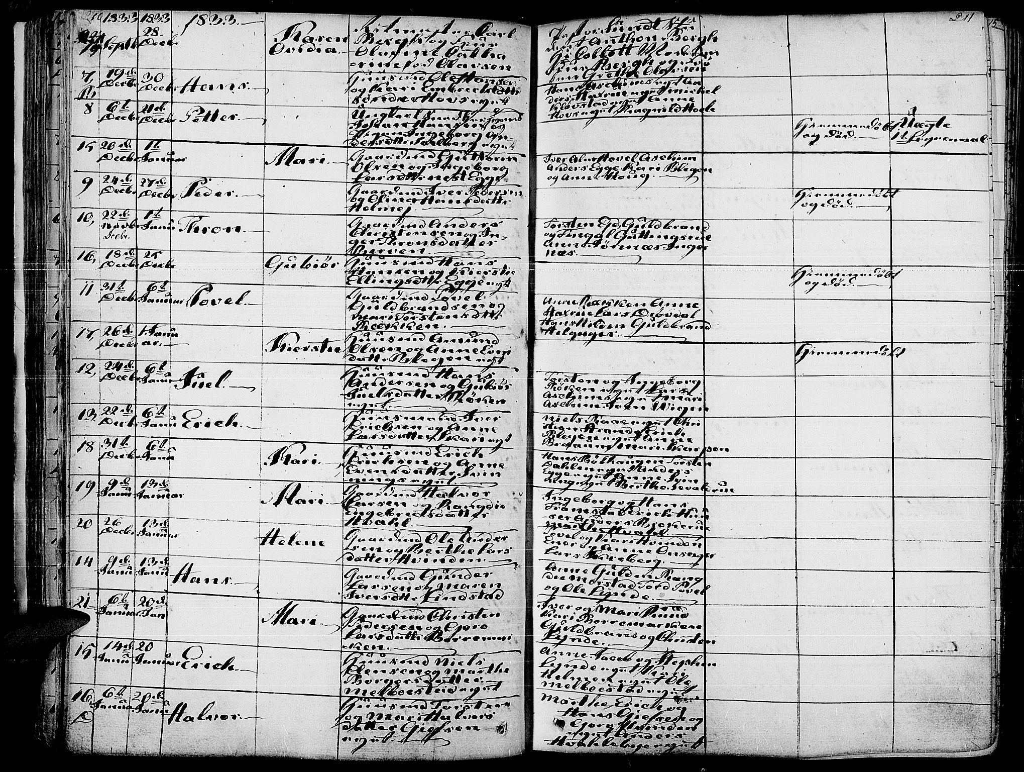 SAH, Gran prestekontor, Ministerialbok nr. 10, 1824-1842, s. 210-211