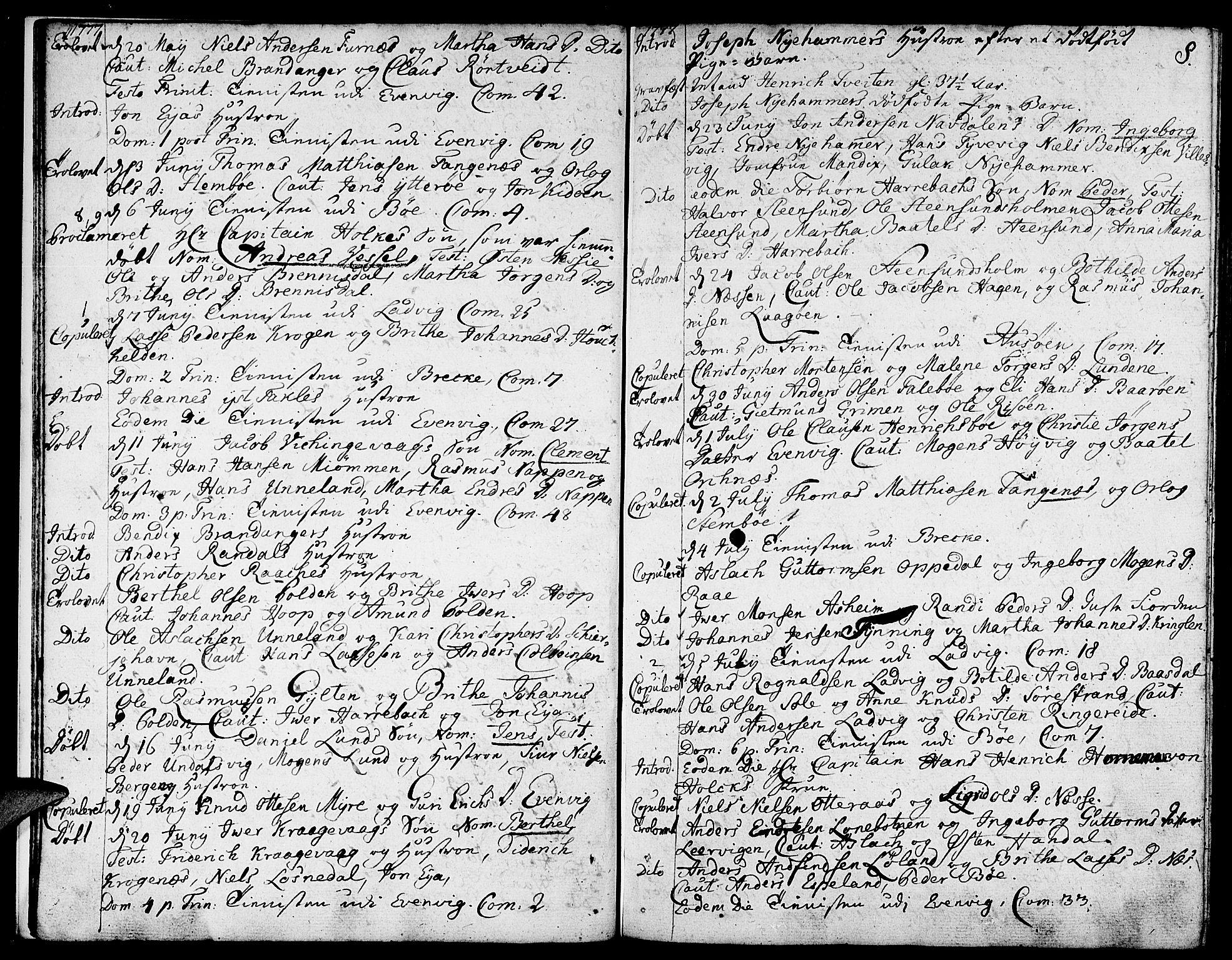 SAB, Gulen sokneprestembete, Ministerialbok nr. A 13, 1776-1787, s. 8