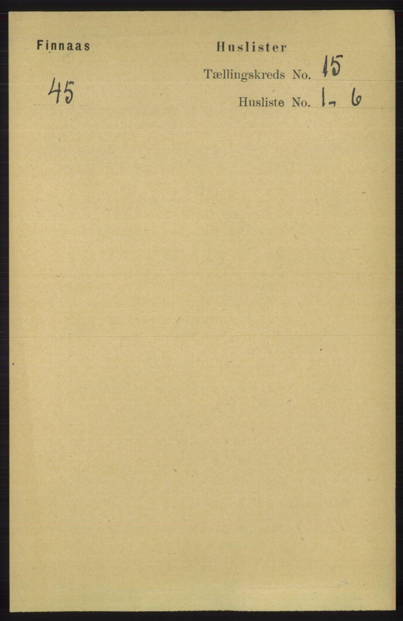 RA, Folketelling 1891 for 1218 Finnås herred, 1891, s. 5934