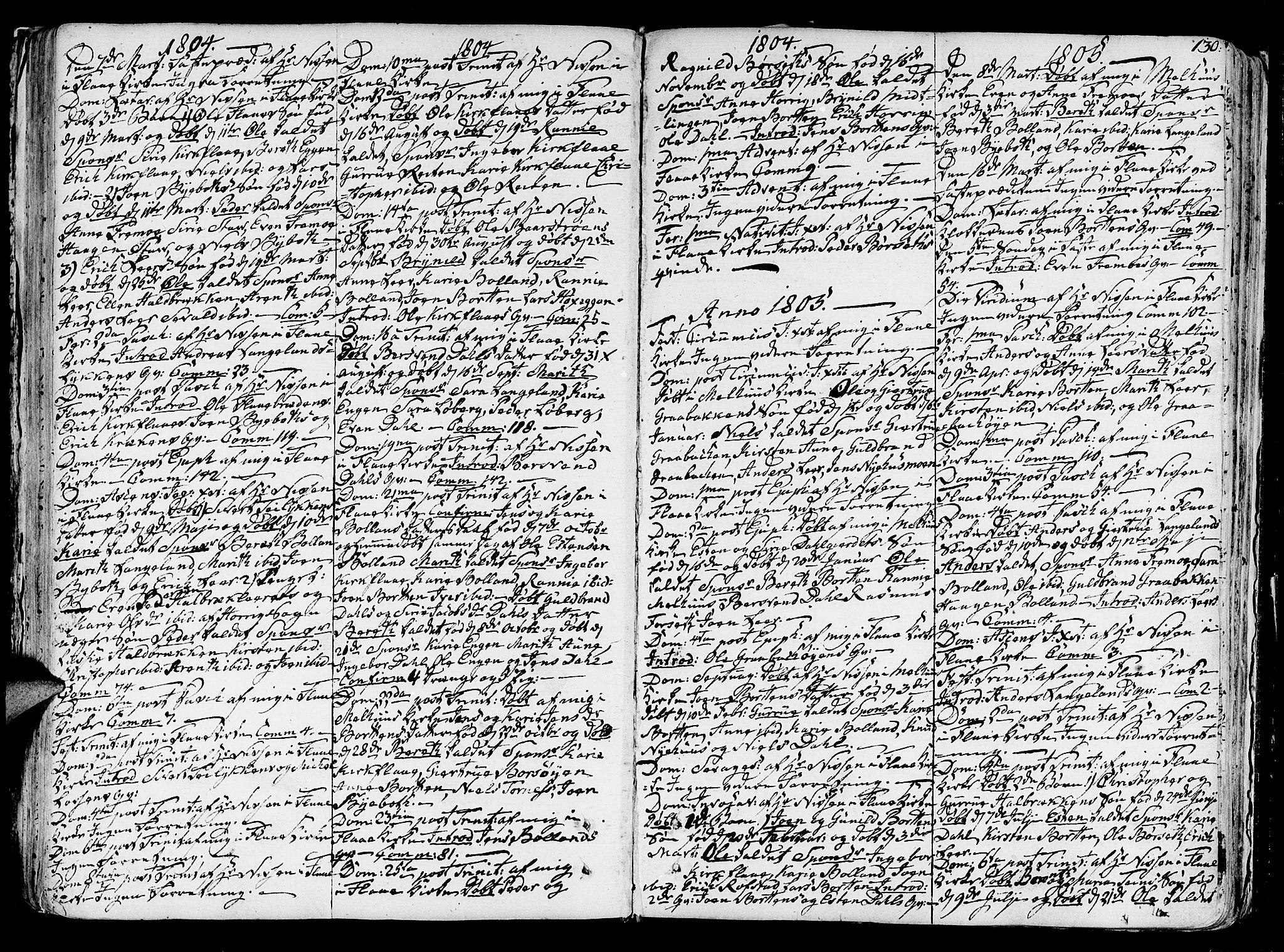 SAT, Ministerialprotokoller, klokkerbøker og fødselsregistre - Sør-Trøndelag, 691/L1062: Ministerialbok nr. 691A02 /2, 1768-1815, s. 130
